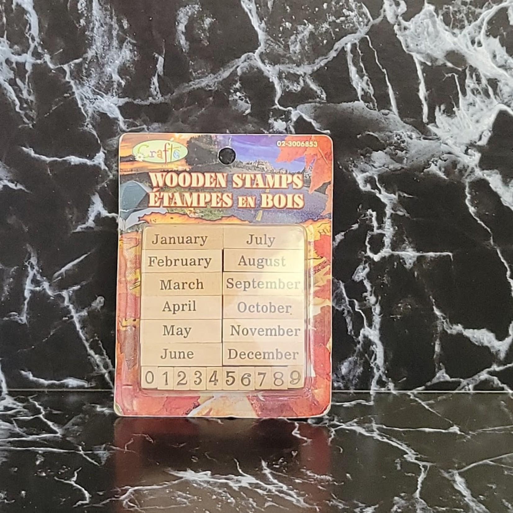 Wooden Stamp Set - Months