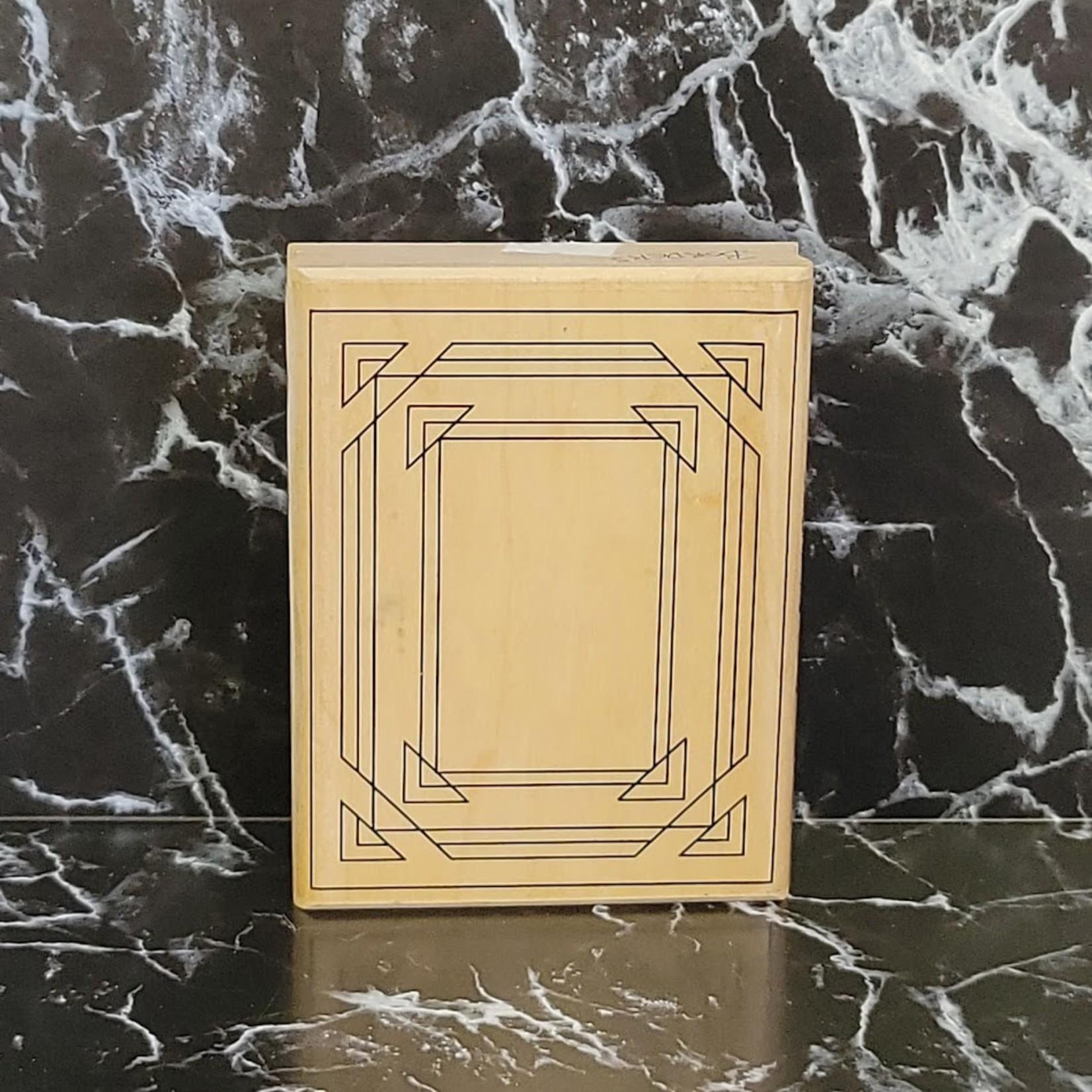 Wooden Stamp - Art Deco Frame