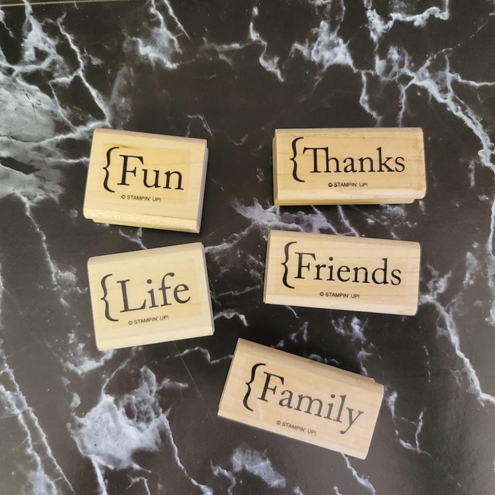 Stampin' Up - Wooden Stamp Set - Words