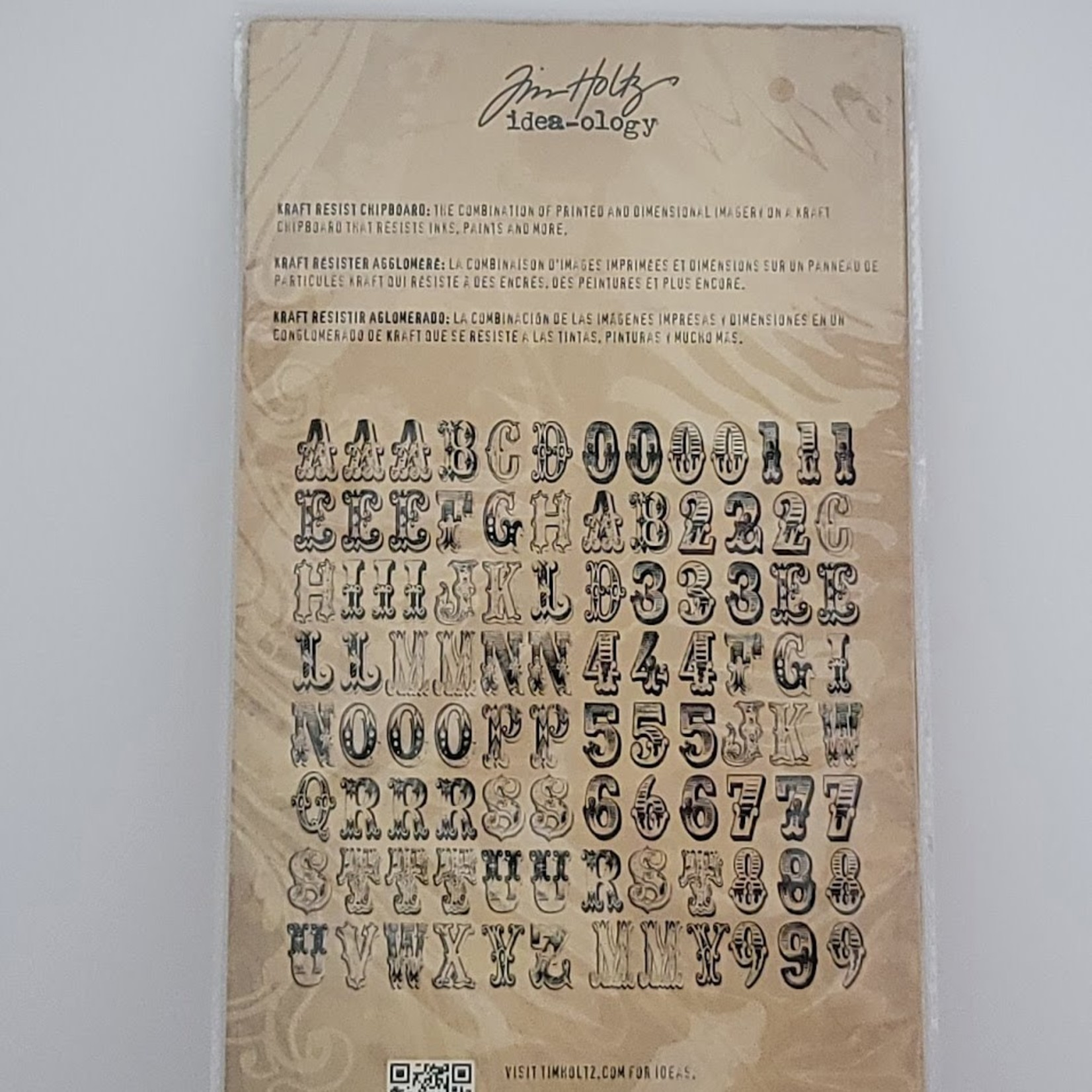 Tim Holtz Tim Holtz - Chipboard letters and numbers