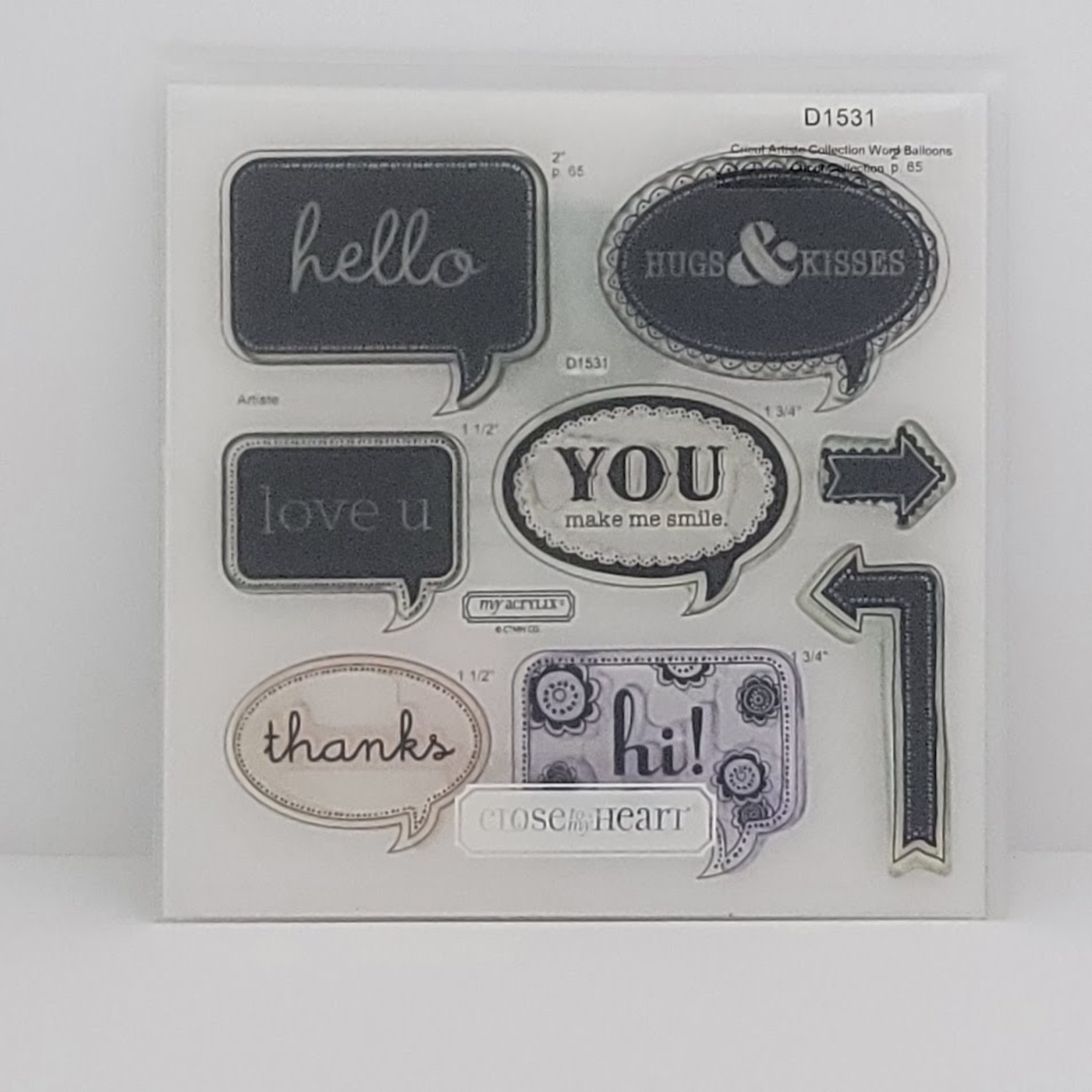 Close to my Heart Close to my Heart - My Acrylix - Cricut Artiste Collection Word Balloons