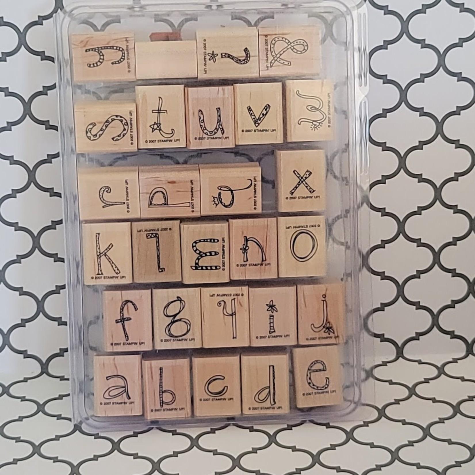 Stampin' Up Stampin' Up Wooden Stamp Set - Doodle Alphabet