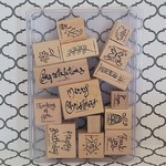 Stampin' Up Wooden Stamp Set - A Greeting for All Reasons