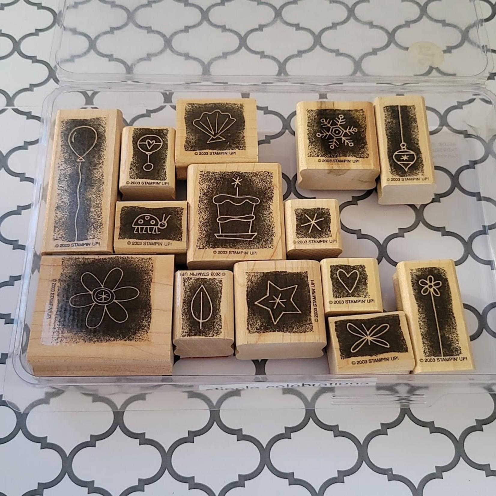 Stampin' Up Wooden Stamp Set - Stipple Celebrations