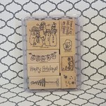 Stampin' Up Wooden Stamp Set - Flaky Friends