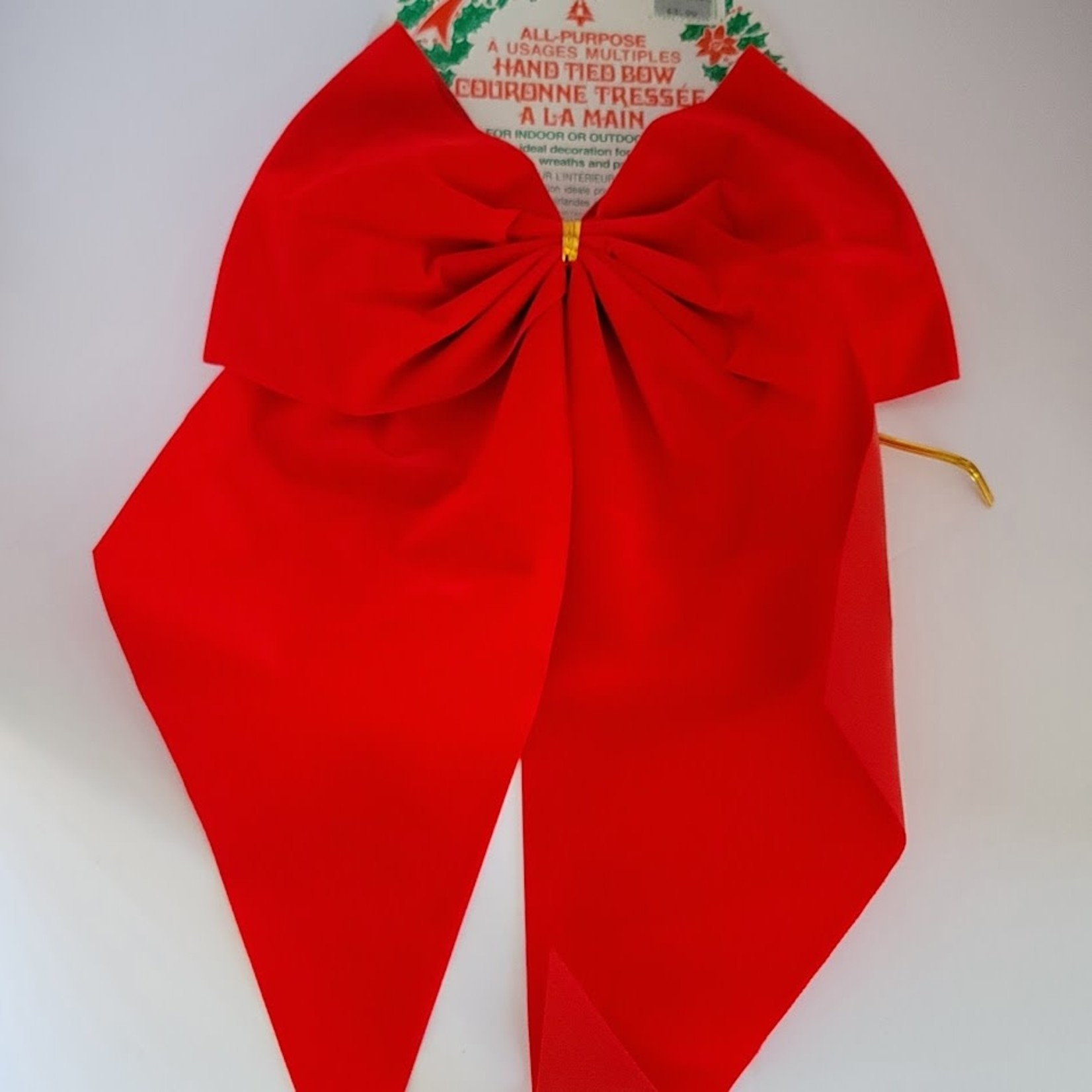 Indoor/Outdoor Holiday Bows - Red