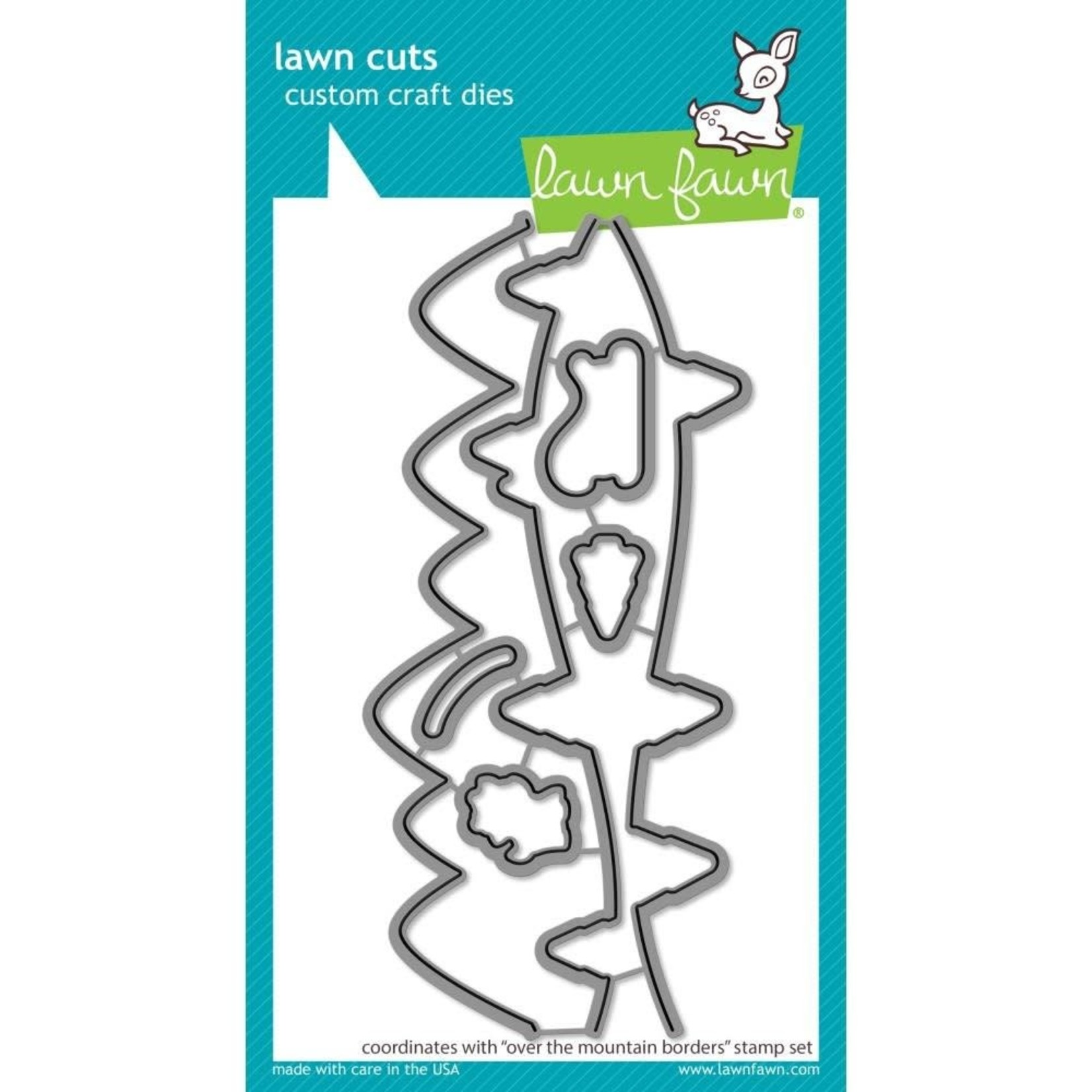 Lawn Fawn Lawn Cuts Custom Craft Die -Over The Mountain Borders