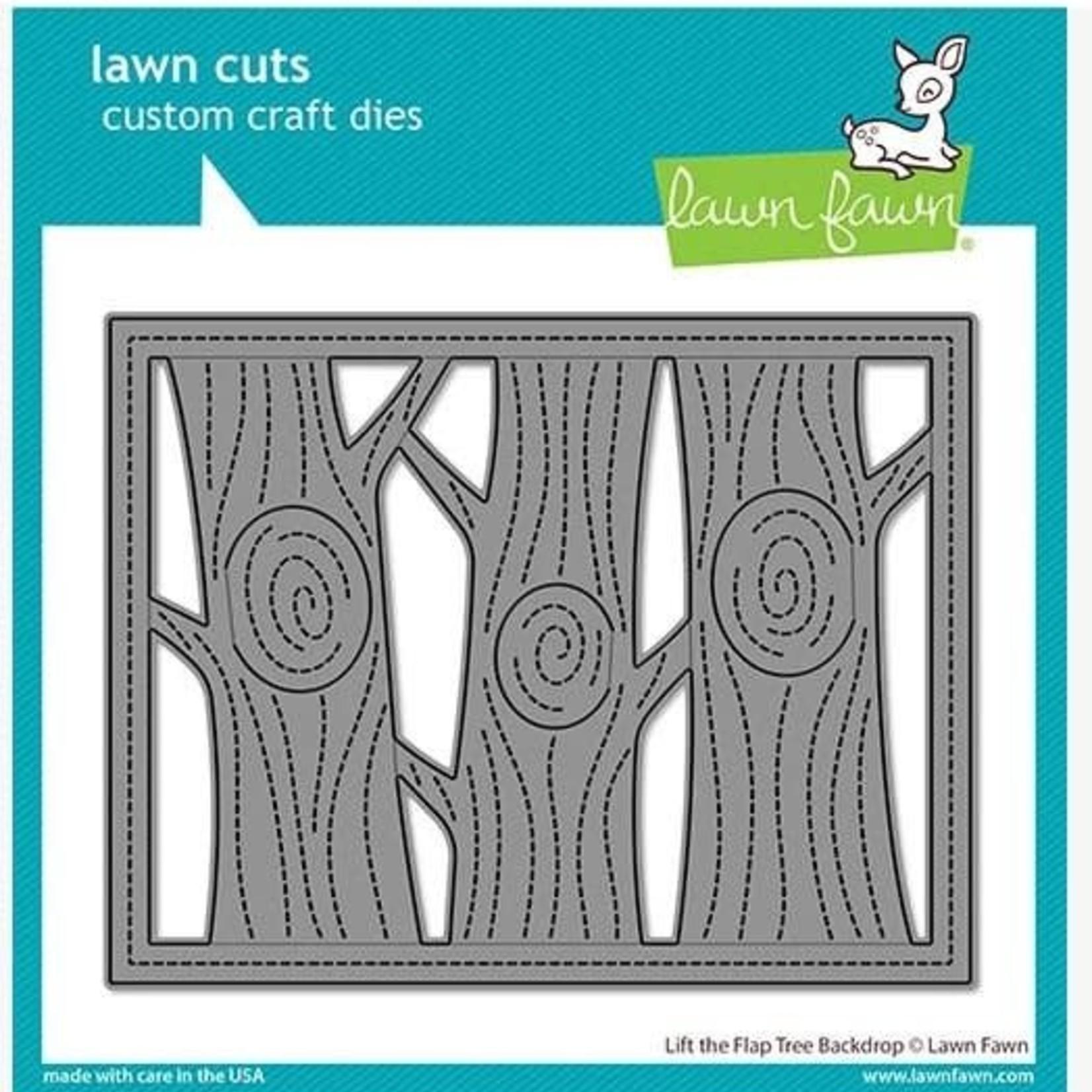 Lawn Fawn Lawn Cuts Custom Craft Die -Lift The Flap Tree Backdrop