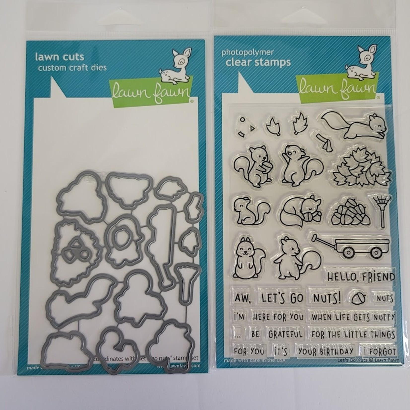 Lawn Fawn Let's Go Nuts - Stamp and Die Set