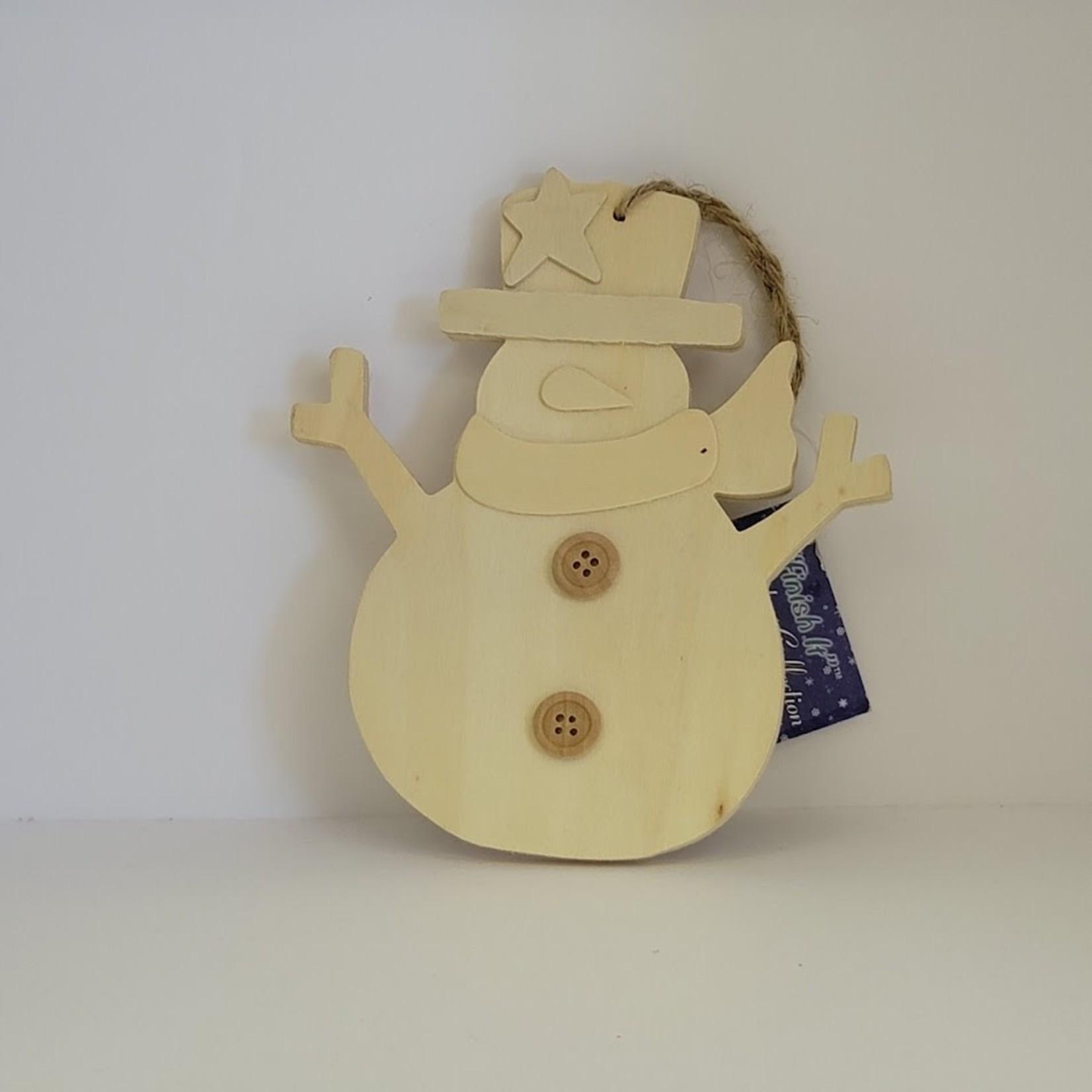 """Wooden Snowman 5.13"""" x 6"""""""