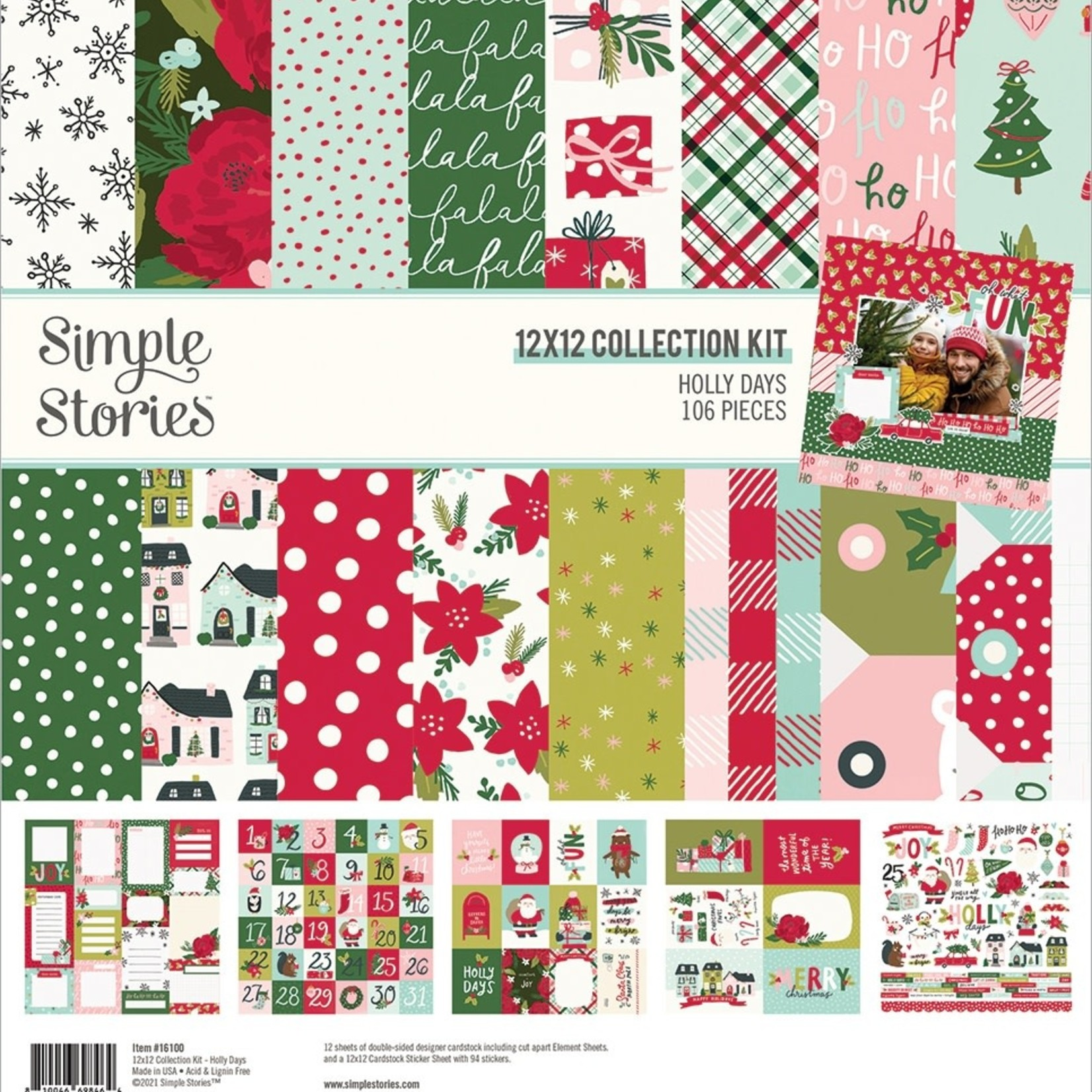 Simple Stories Simple Stories - 12x12 Collection Kit - Holly Days