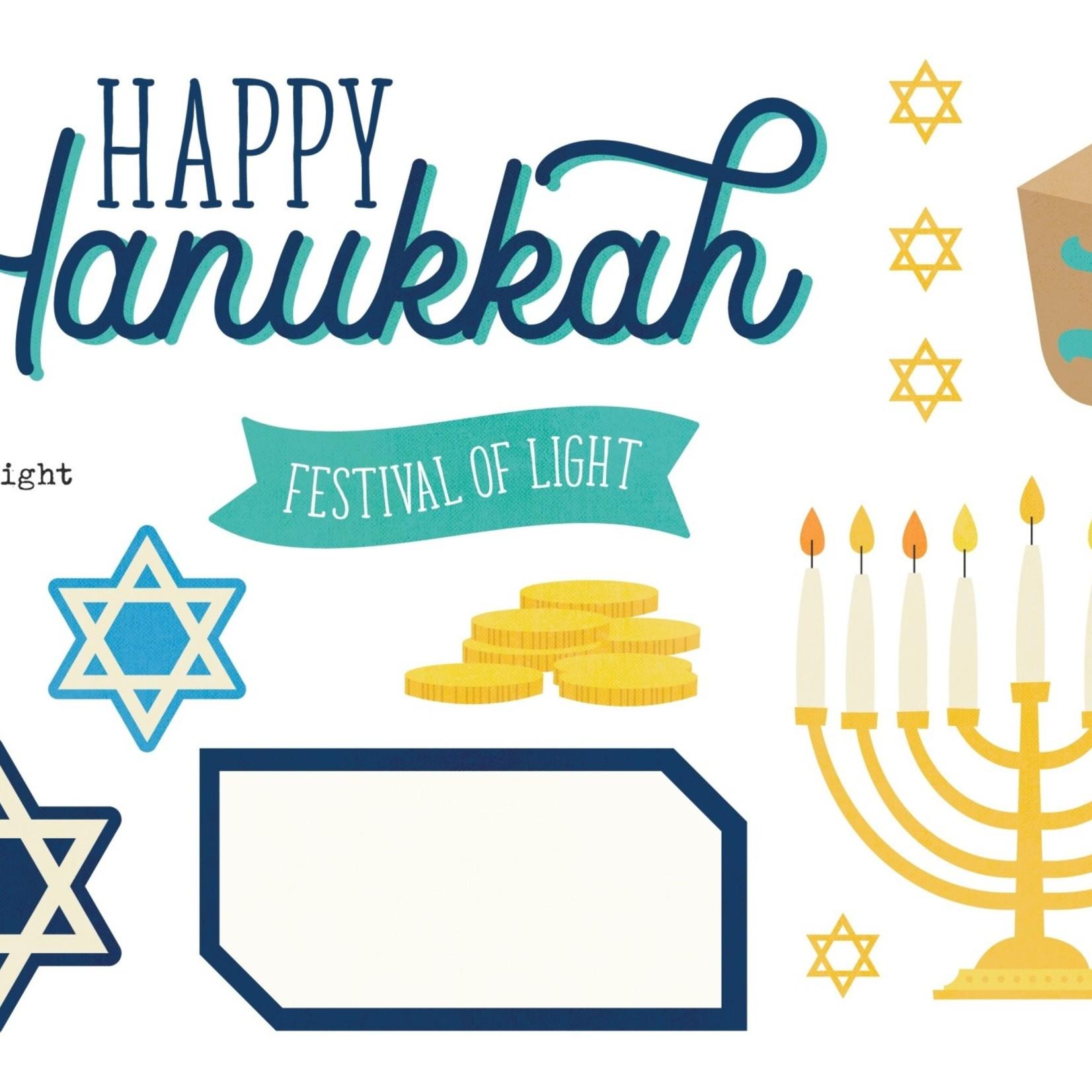 Simple Stories Simple Stories - Page Pieces- Happy Hanukkah