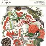 Simple Stories Simple Stories - Chipboard Clusters - Simple Vintage Rustic Christmas