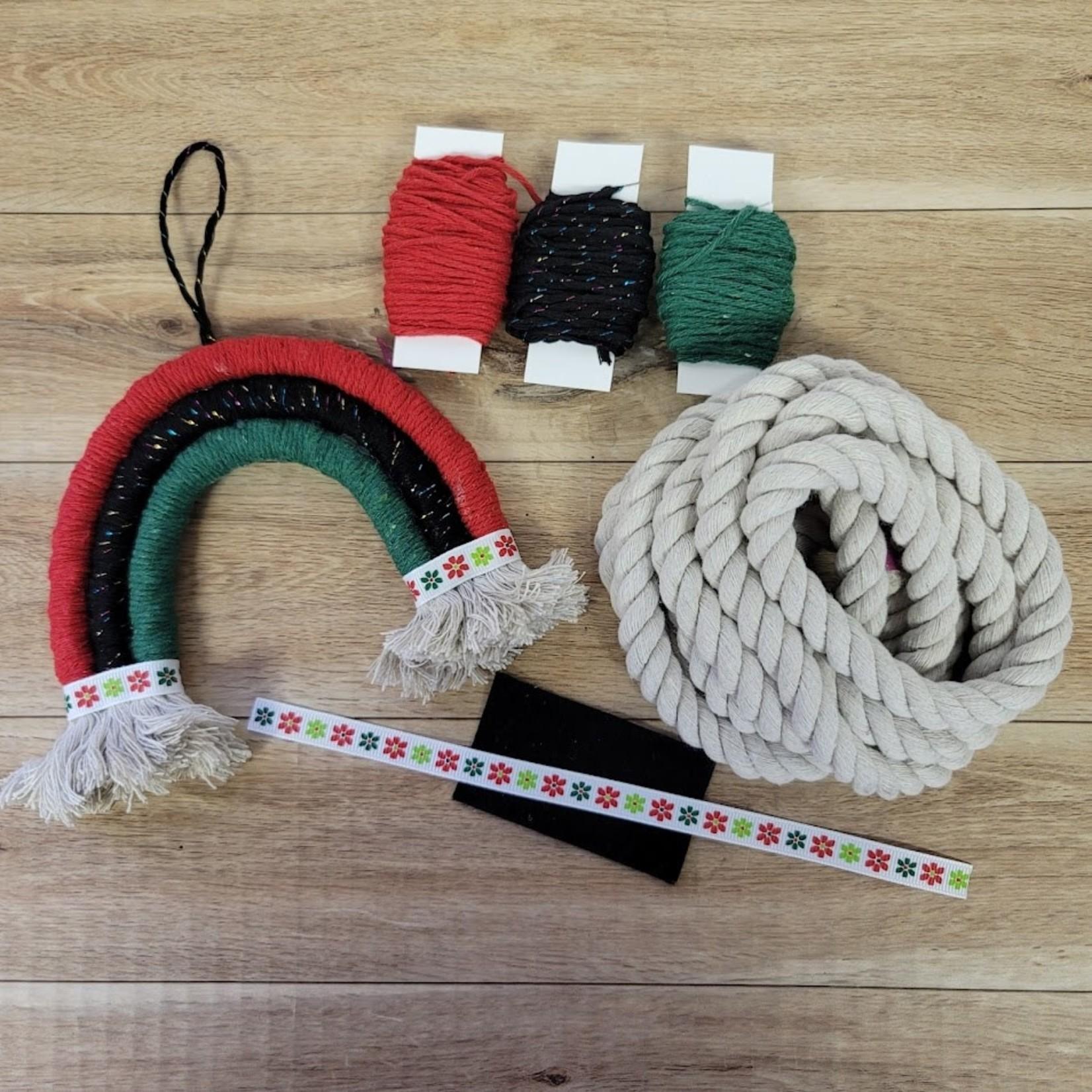 DIY Small Rainbow Kit (Macrame, Yarn Wrapping)