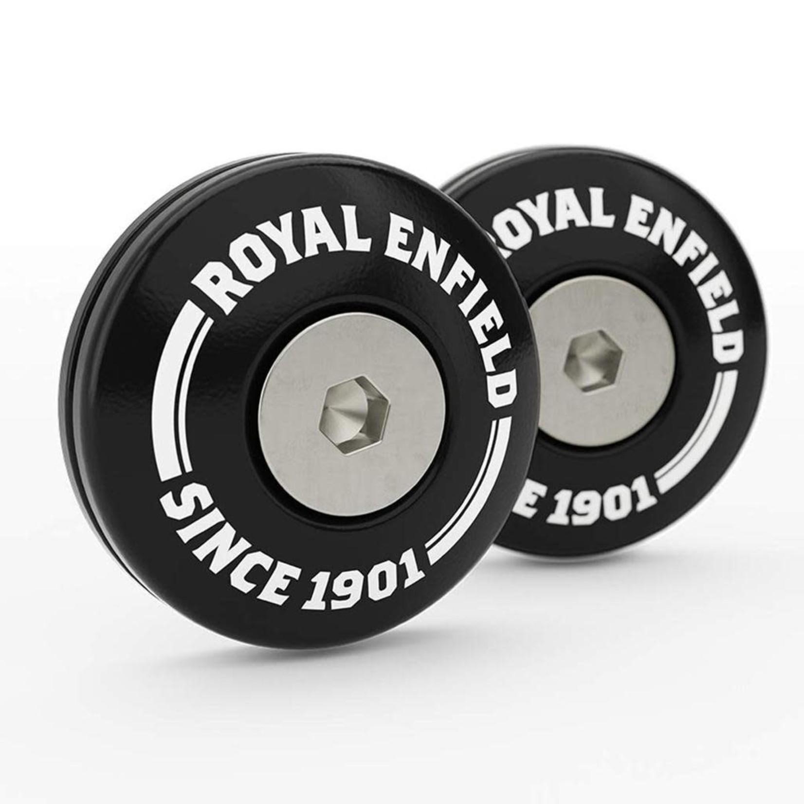 Royal Enfield bar end finisher kit, machined black 1720058/B