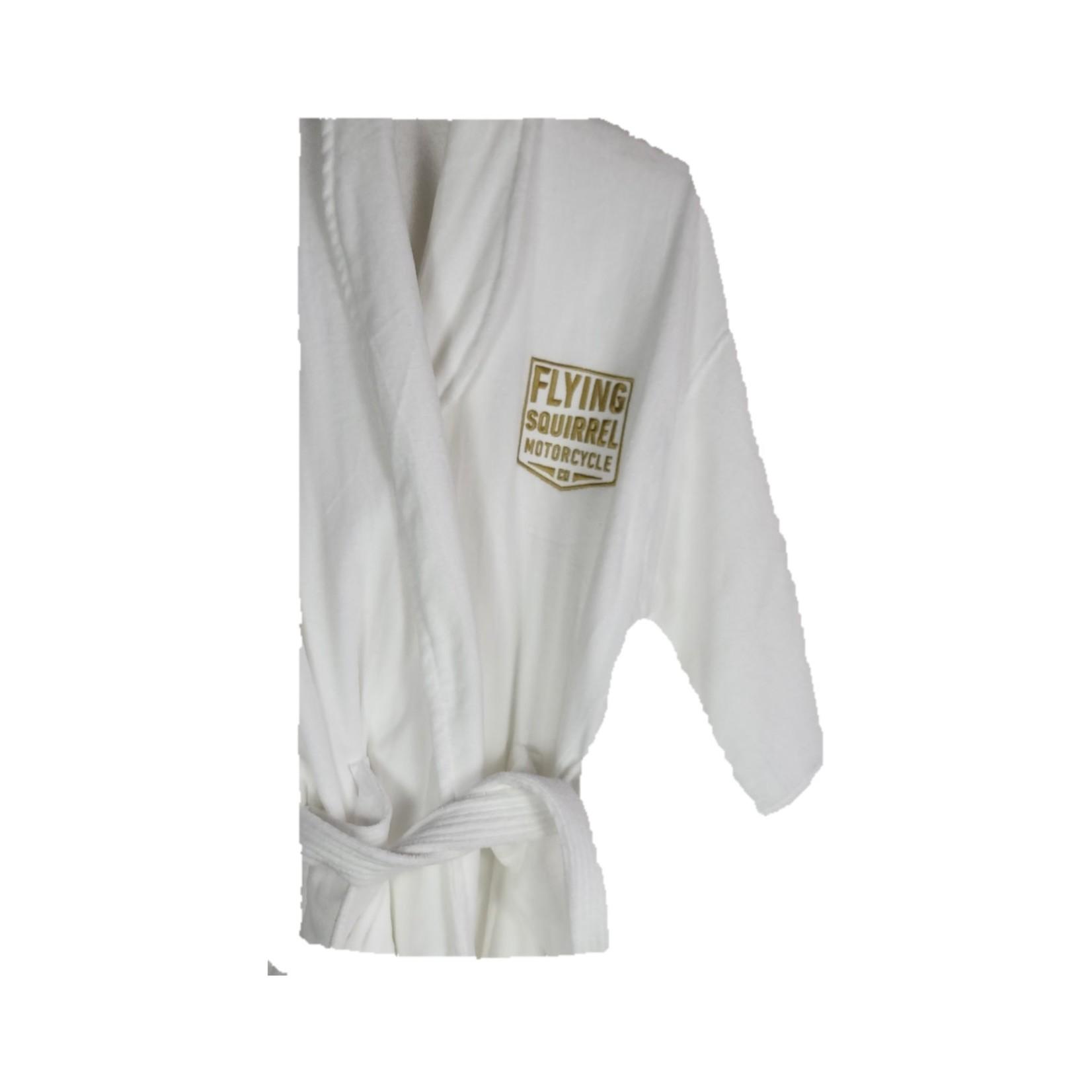 FSM White Plush Bathrobe