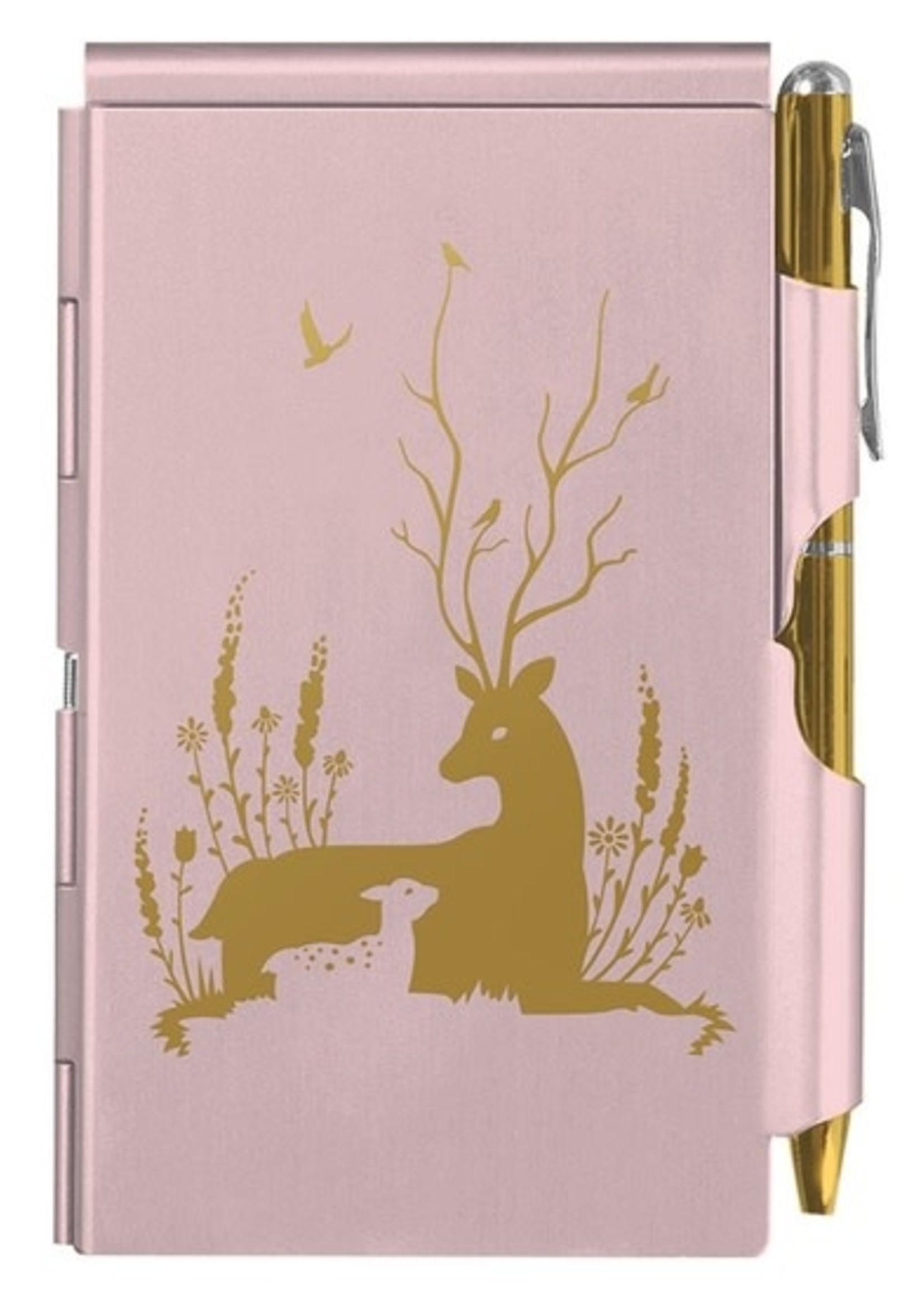 Gold Deer Flip Note