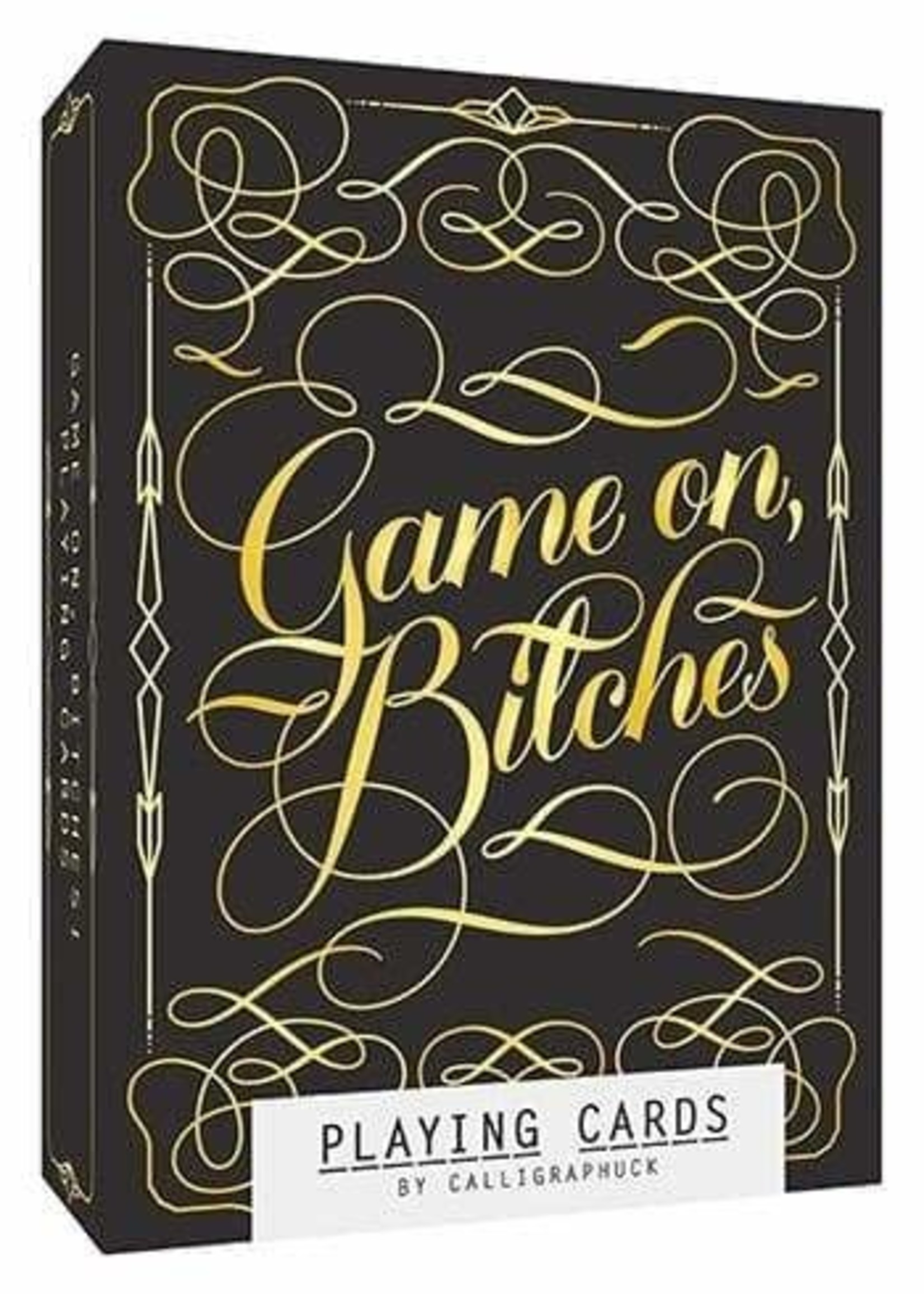 Game On, Bitches Playing Cards by Calligraphuck