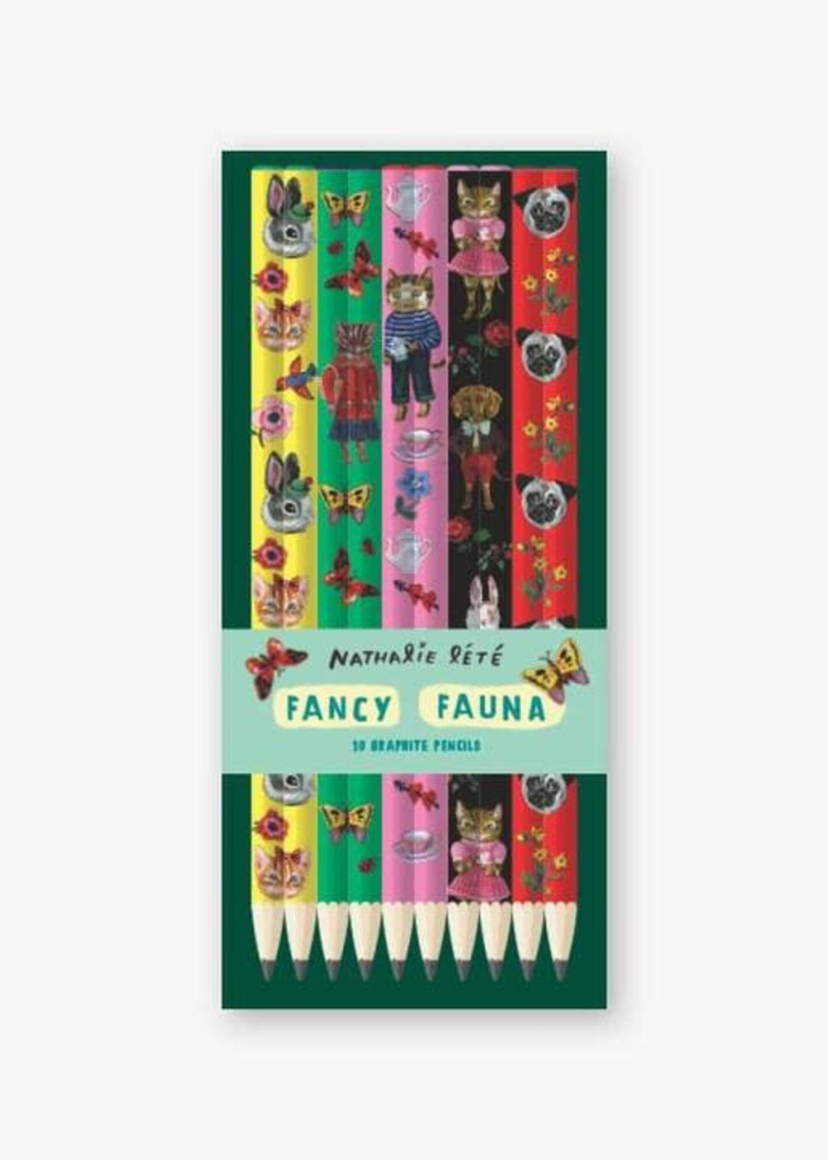 Fancy Fauna: 10 Graphite Pencils by Nathalie Lété