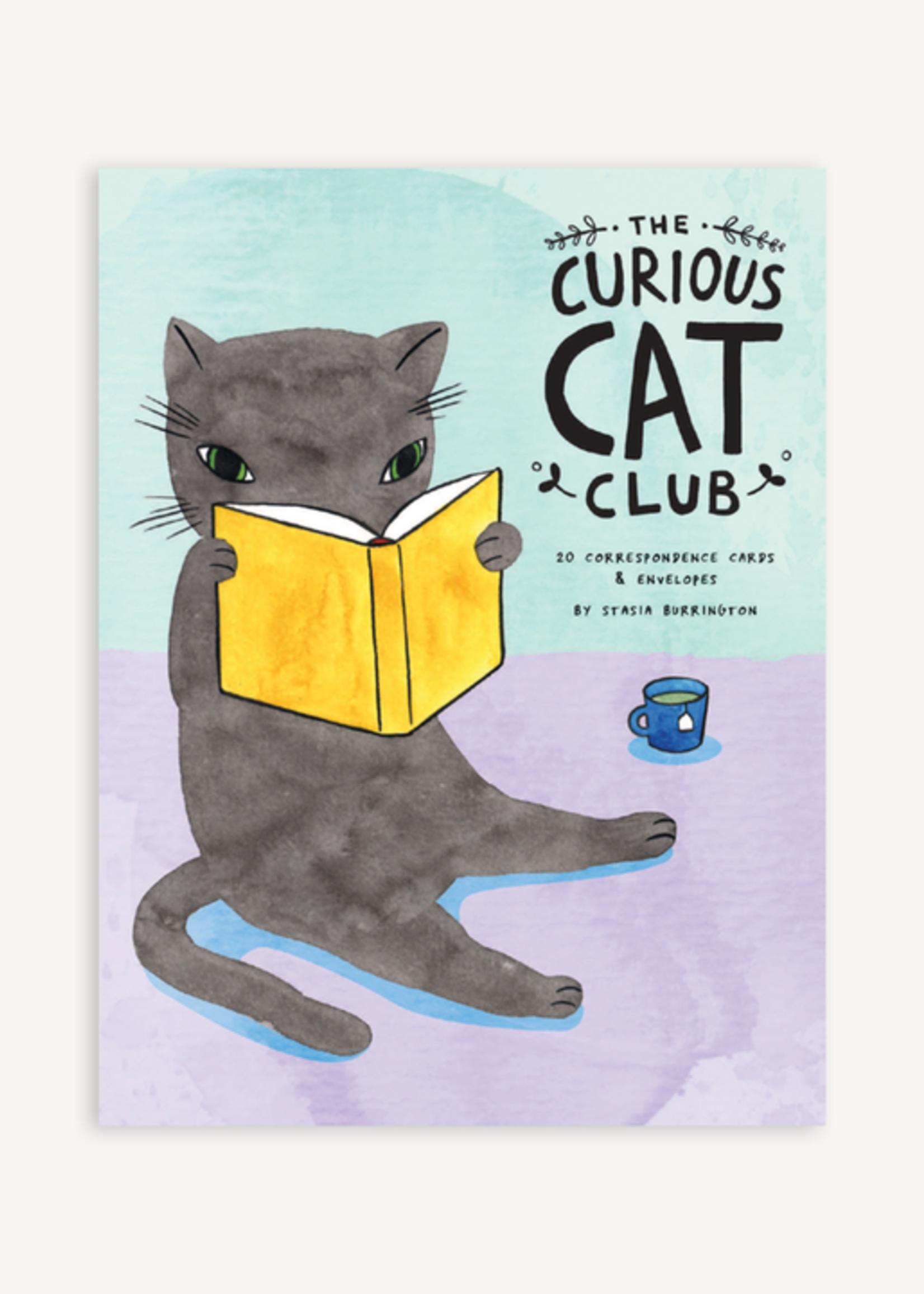 The Curious Cat Club Correspondence Cards by Stasia Burrington