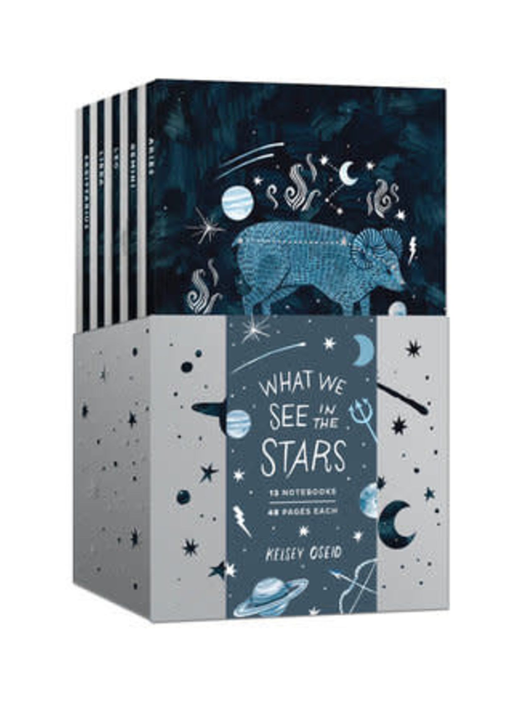 What We See in the Stars A 12-Notebook Set by Kelsey Oseid