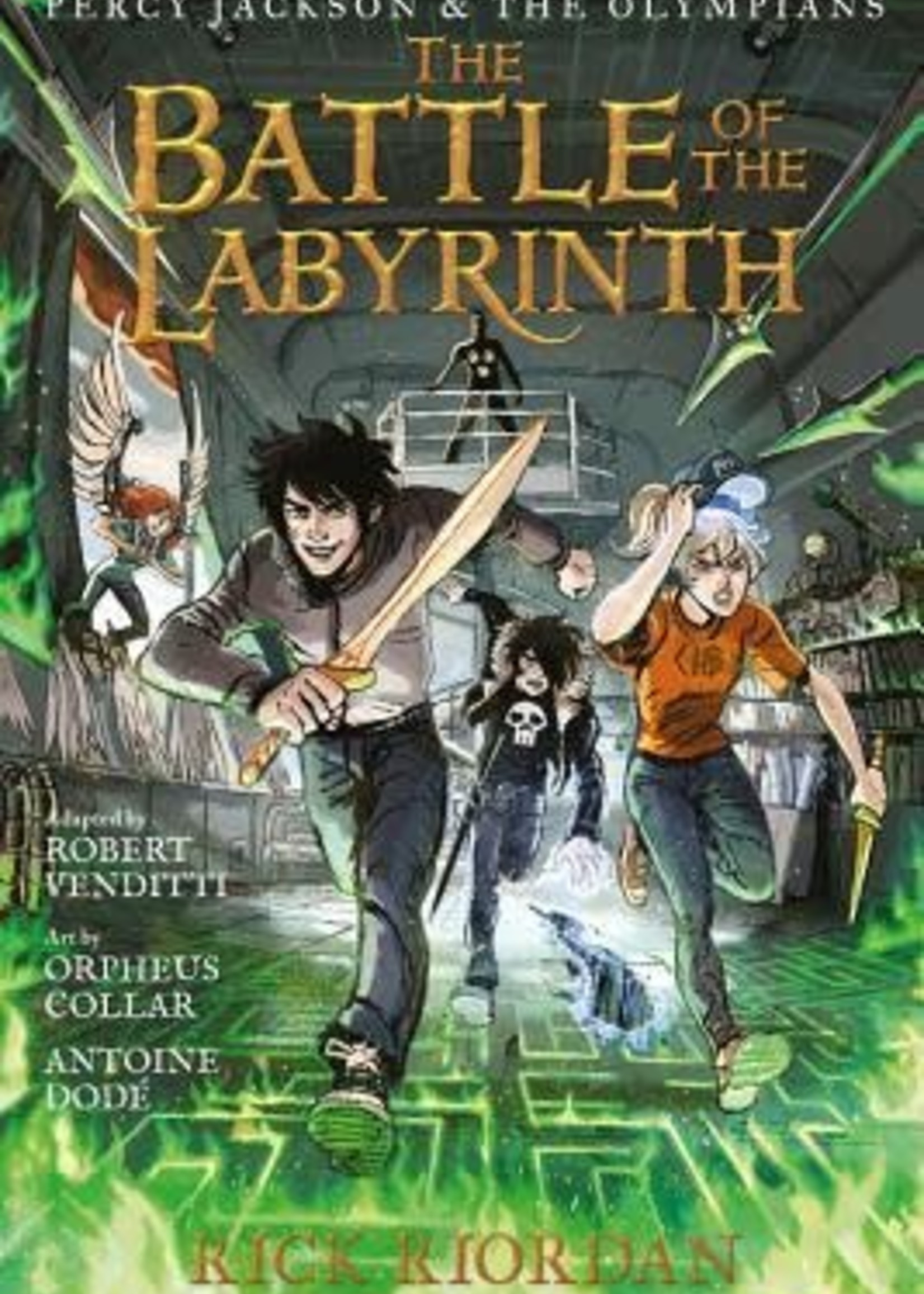 The Battle of the Labyrinth: The Graphic Novel (Percy Jackson and the Olympians: The Graphic Novels #4) by Robert Venditti,  Rick Riordan,  Orpheus Collar,  Antoine Dode