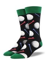 Socksmith Canada Inc Socksmith Canada - Graphic Cotton Crew - Tee It Up (Black)