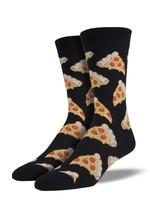 Socksmith Canada Inc Socksmith Canada - Graphic Cotton Crew - Pizza (Black)