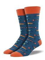 "Socksmith Canada Inc Socksmith Canada - Graphic Cotton Crew - Just Fishin"""