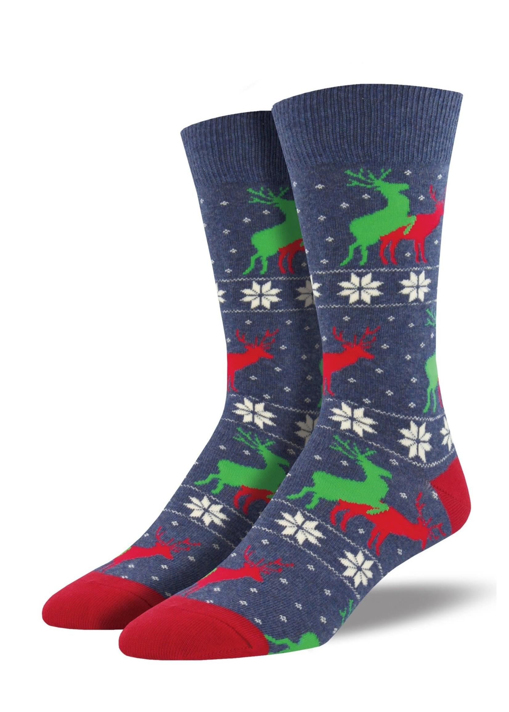 "Socksmith Canada Inc ""Naughty Reindeer Games"" Cotton Crew"