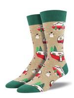 Socksmith Canada Inc Socksmith Canada - Graphic Cotton Crew - Christmas Campers (BRN)