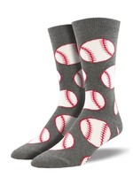 Socksmith Canada Inc Sockmith Canada - Graphic Cotton Crew - Out to the Ball Game (GRY)