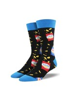 Socksmith Canada Inc Socksmith Canada - Graphic Cotton Crew - All That And A Bag Of Chips (Black)