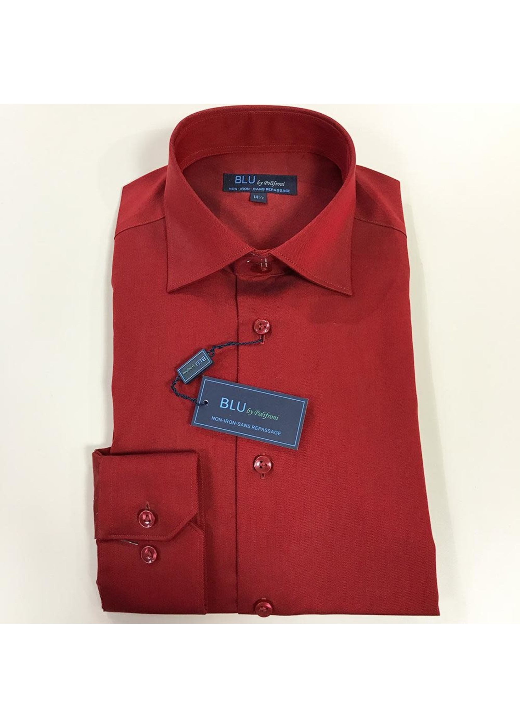Polifroni Milano BLU by Polifroni Non-Iron Dress Shirt (Modern Fit)