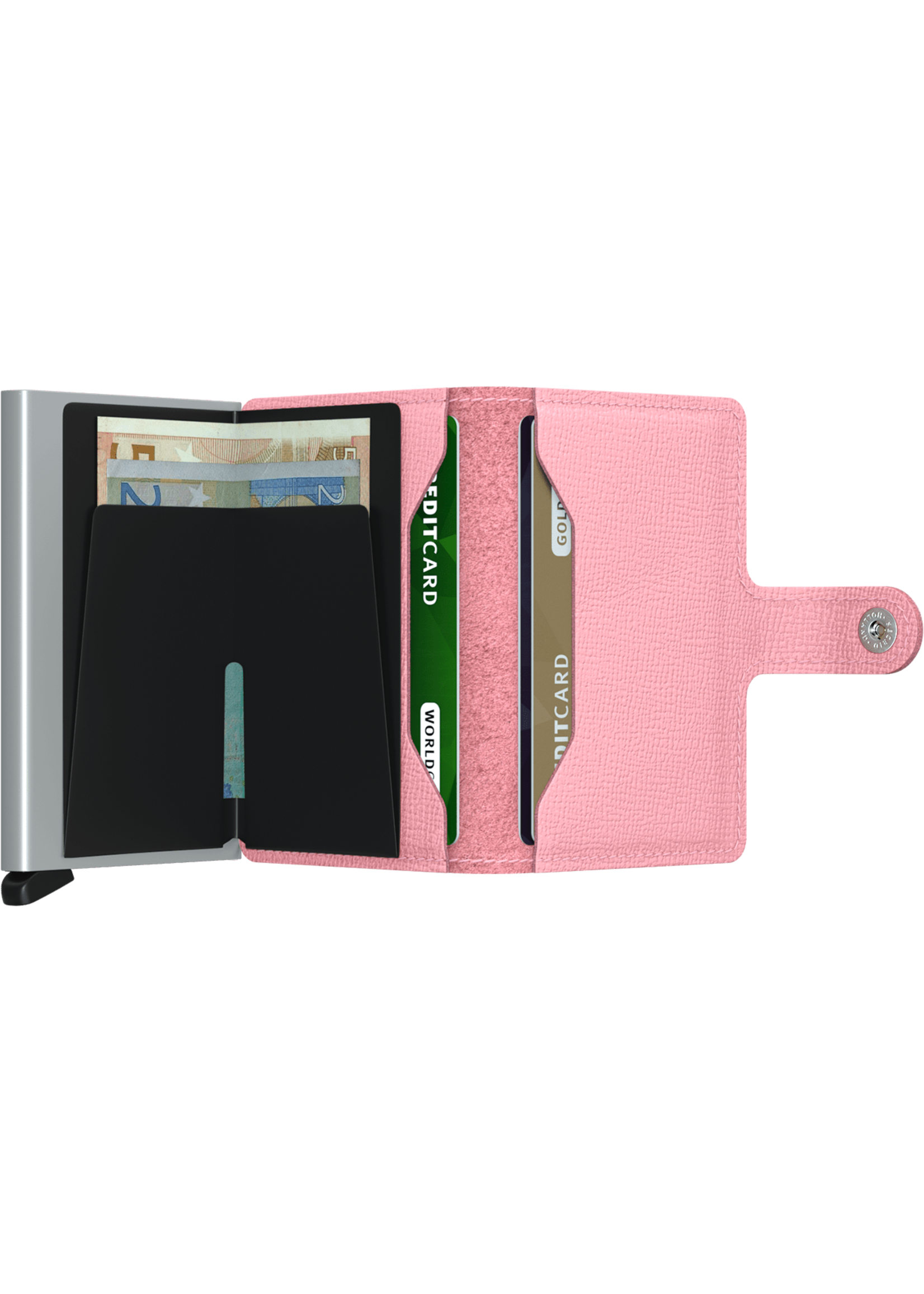 """Secrid The """"Crisple"""" Miniwallet in Pink by Secrid"""