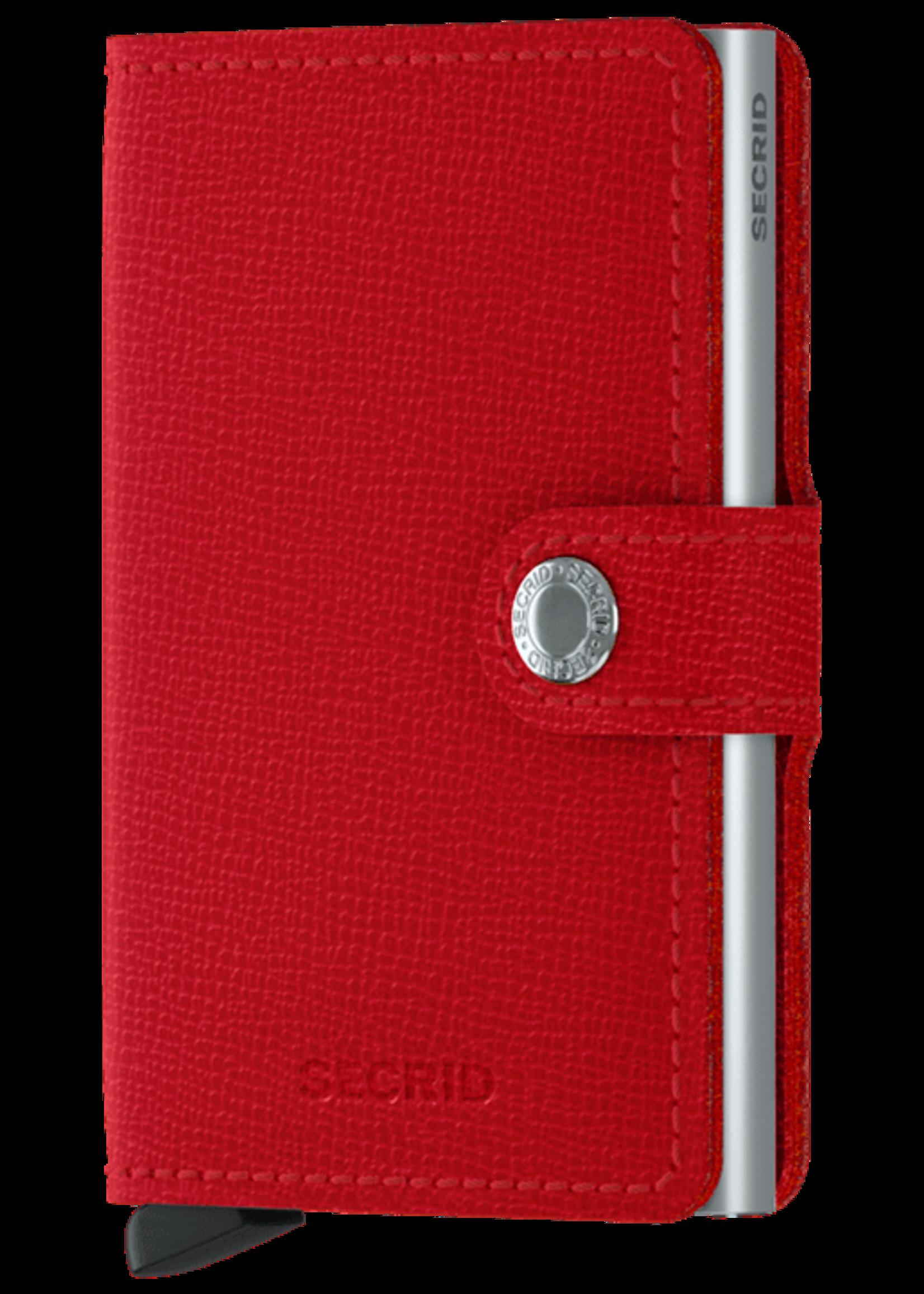 """Secrid The """"Crisple"""" Miniwallet in Red by Secrid"""
