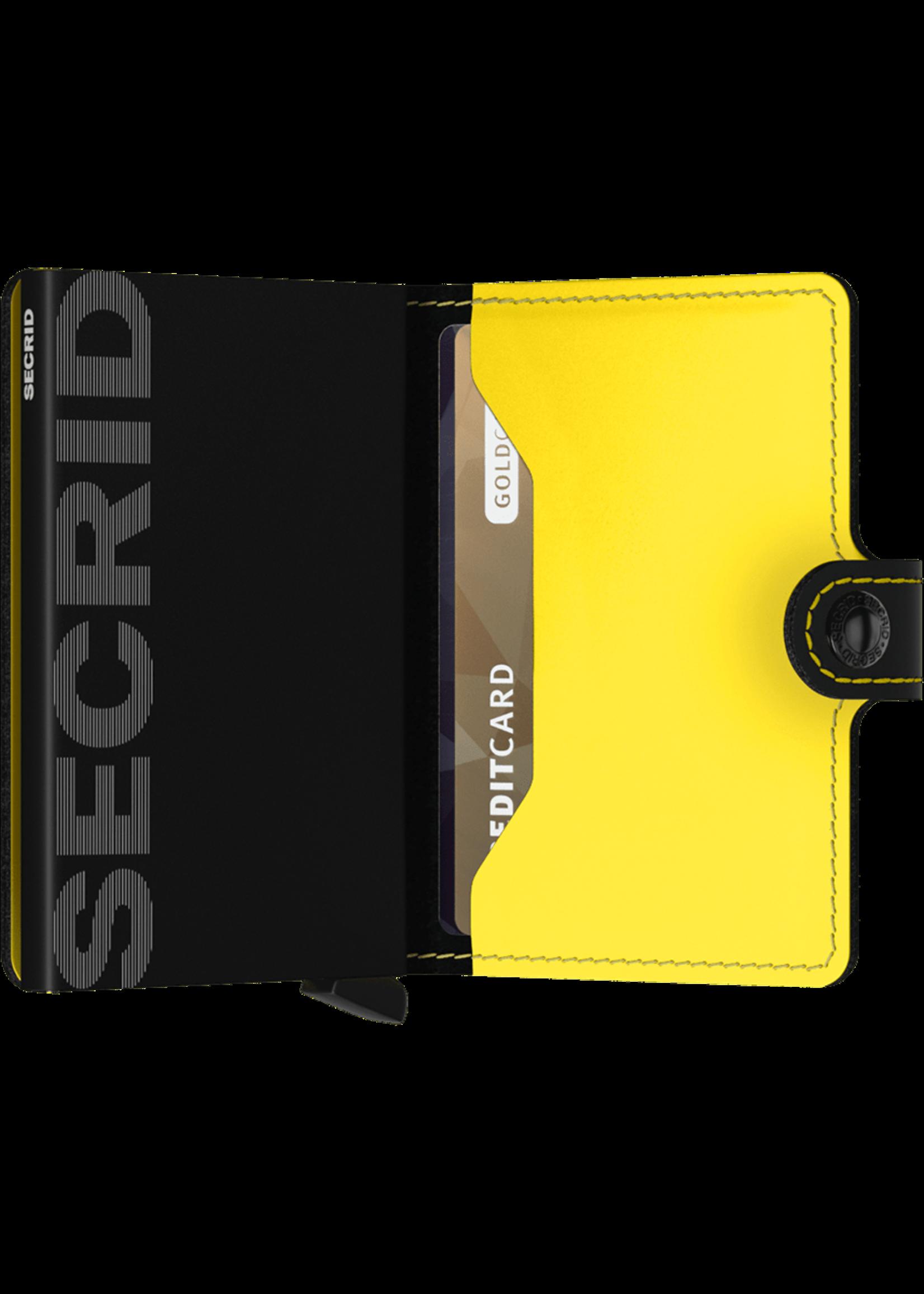 """Secrid The """"Matte Black & Yellow""""  Miniwallet  by Secrid"""