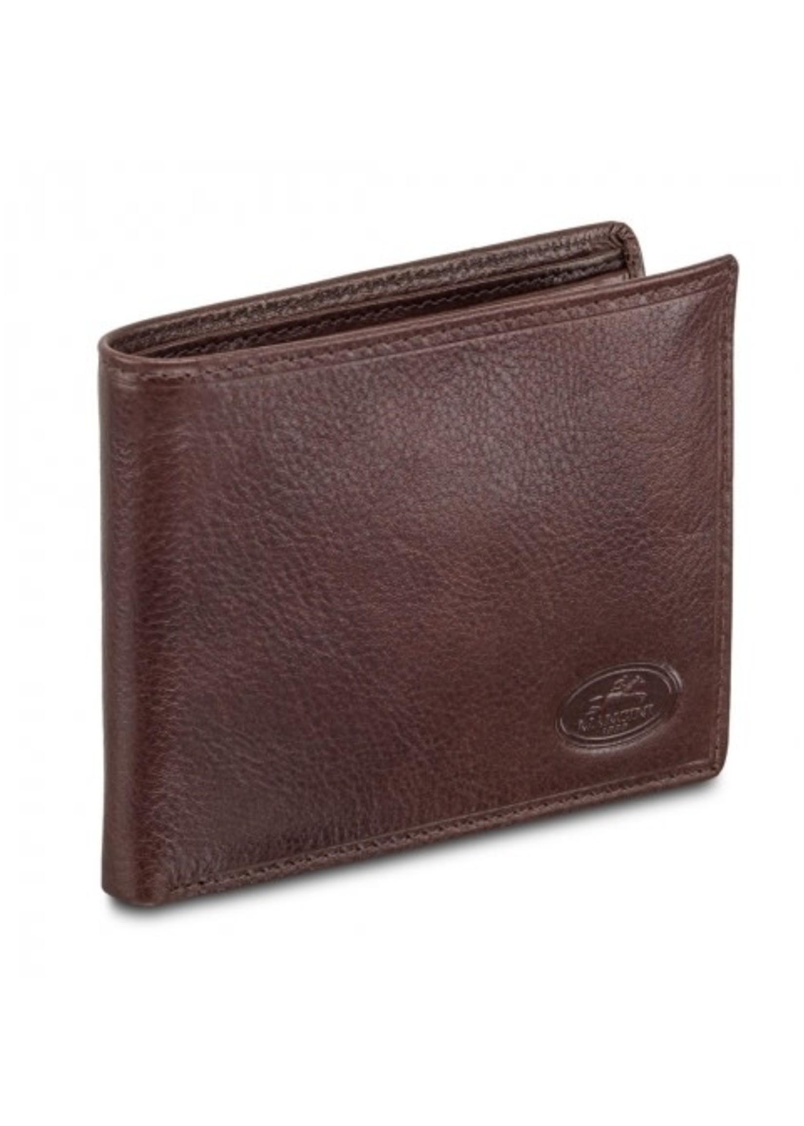 Mancini Men's RFID Secure Classic Billfold Wallet - Brown