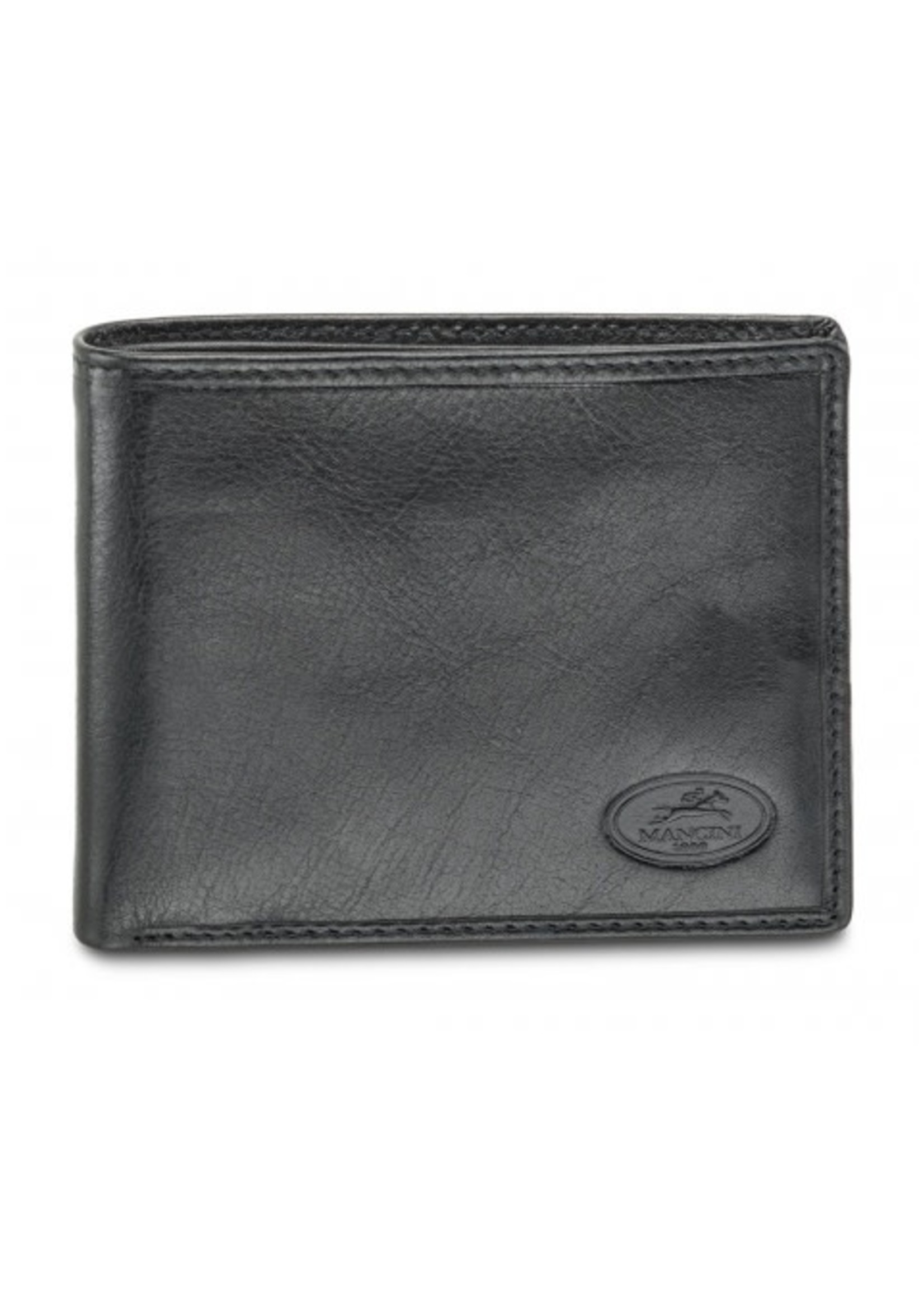 Mancini Men's RFID Secure Classic Billfold Wallet - Black