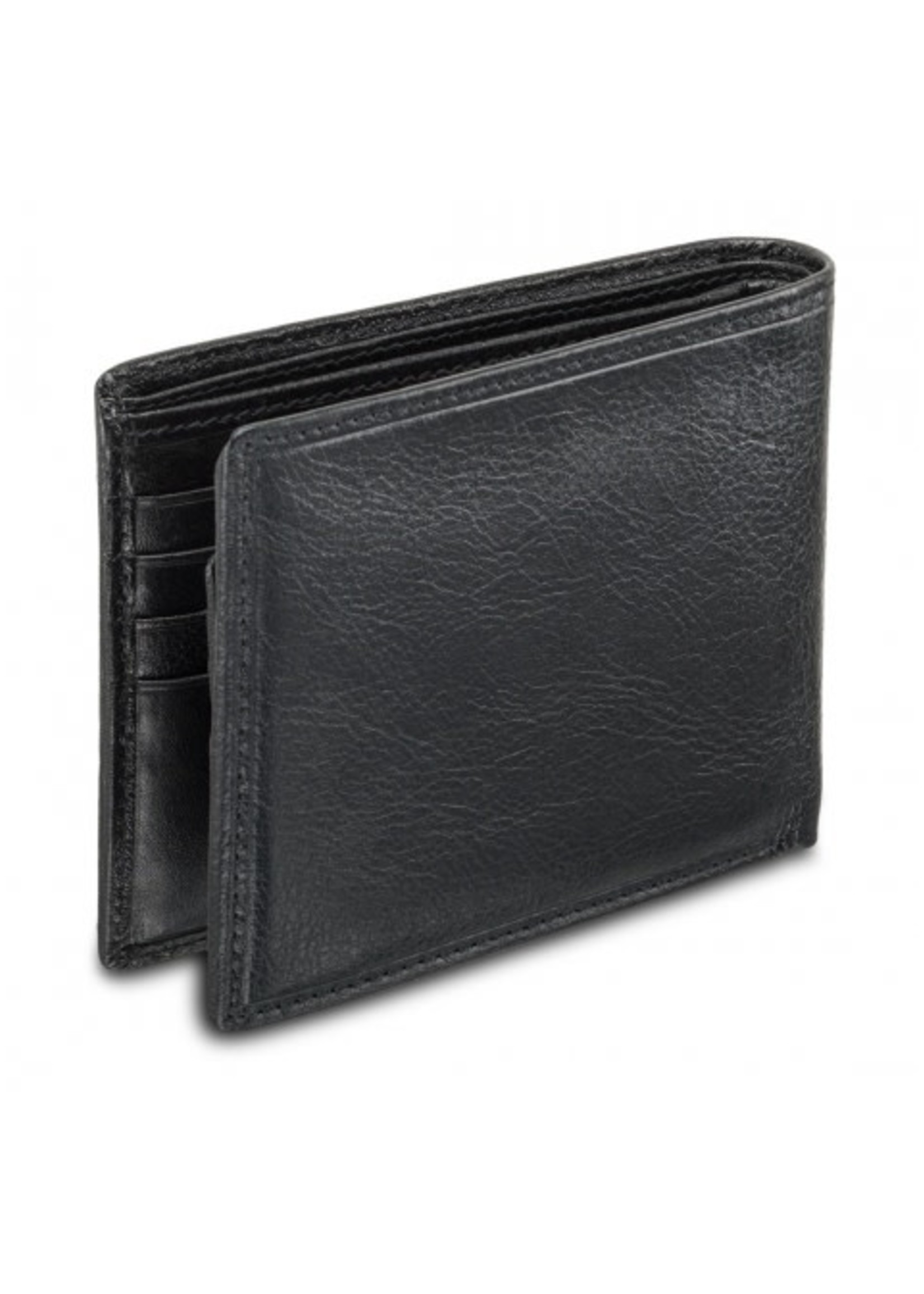 Mancini Men`s RFID Secure Billfold with Removable Passcase - Black