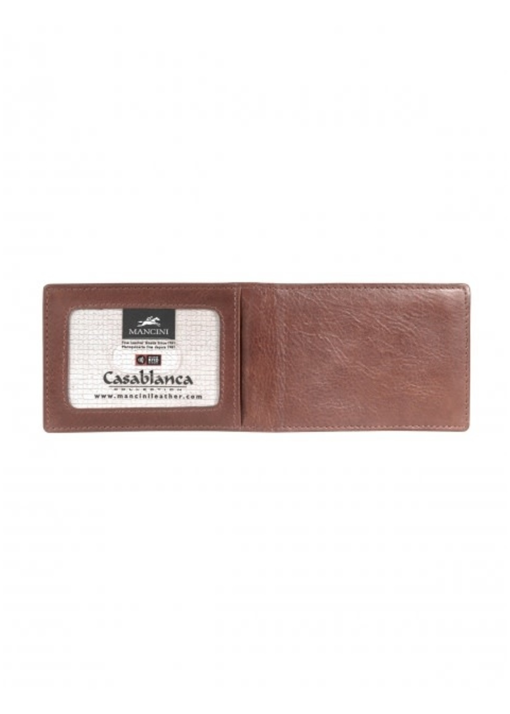 Mancini Men's RFID Blocking Billfold with Removable Passcase