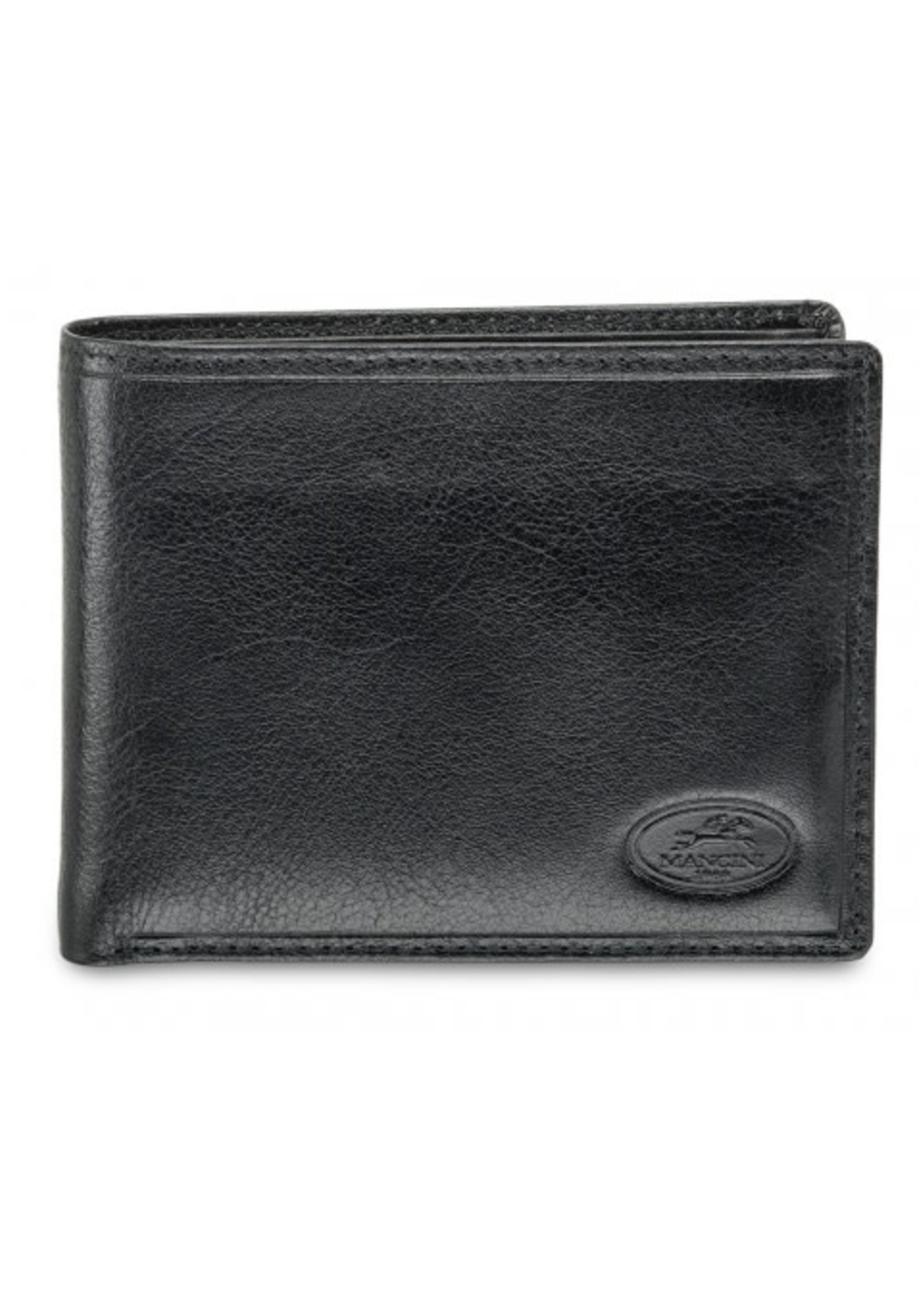 Mancini Men`s RFID Secure Wallet with Removable Passcase and Coin Pocket - Black