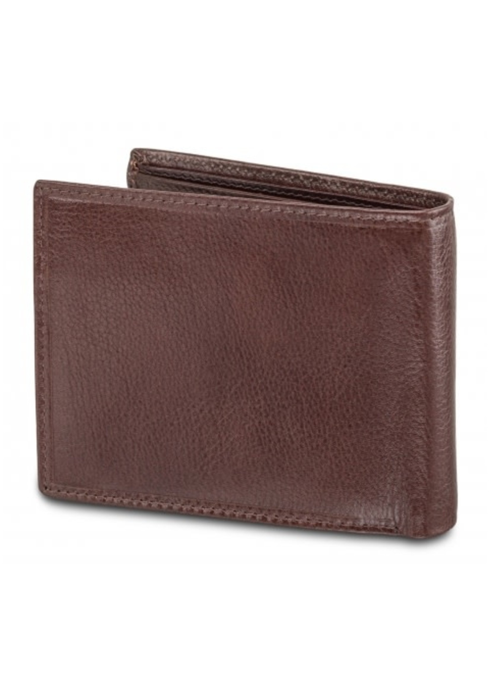 Mancini Men`s RFID Secure Wallet with Removable Passcase and Coin Pocket - Brown