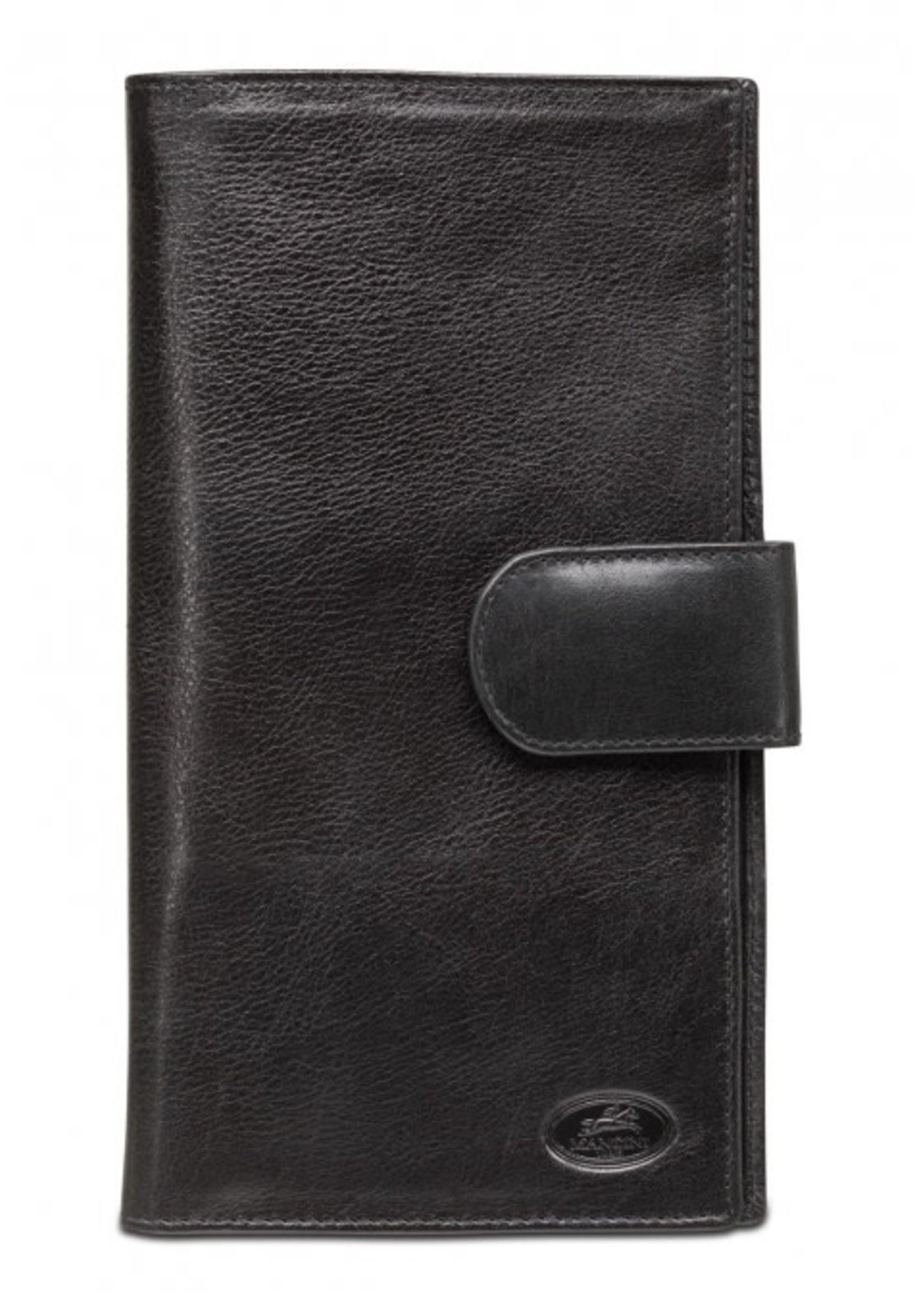 Mancini RFID Secure Classic Passport / Travel Organizer - Black