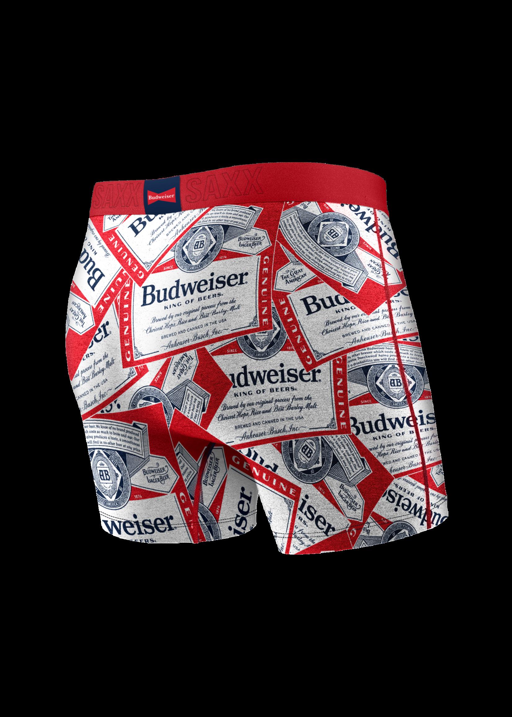 "SAXX SAXX - ""Budweiser Multi Tossed Label"" Vibe Boxer Brief"