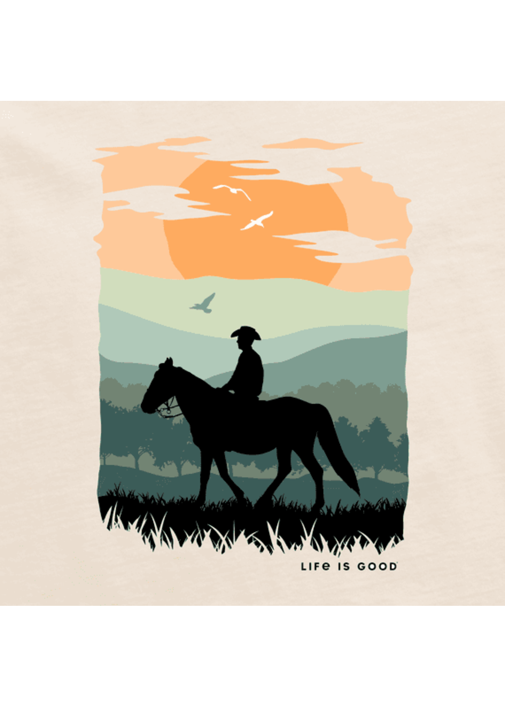 """Life Is Good Life Is Good """"Sunset Rider"""" Crusher Tee"""