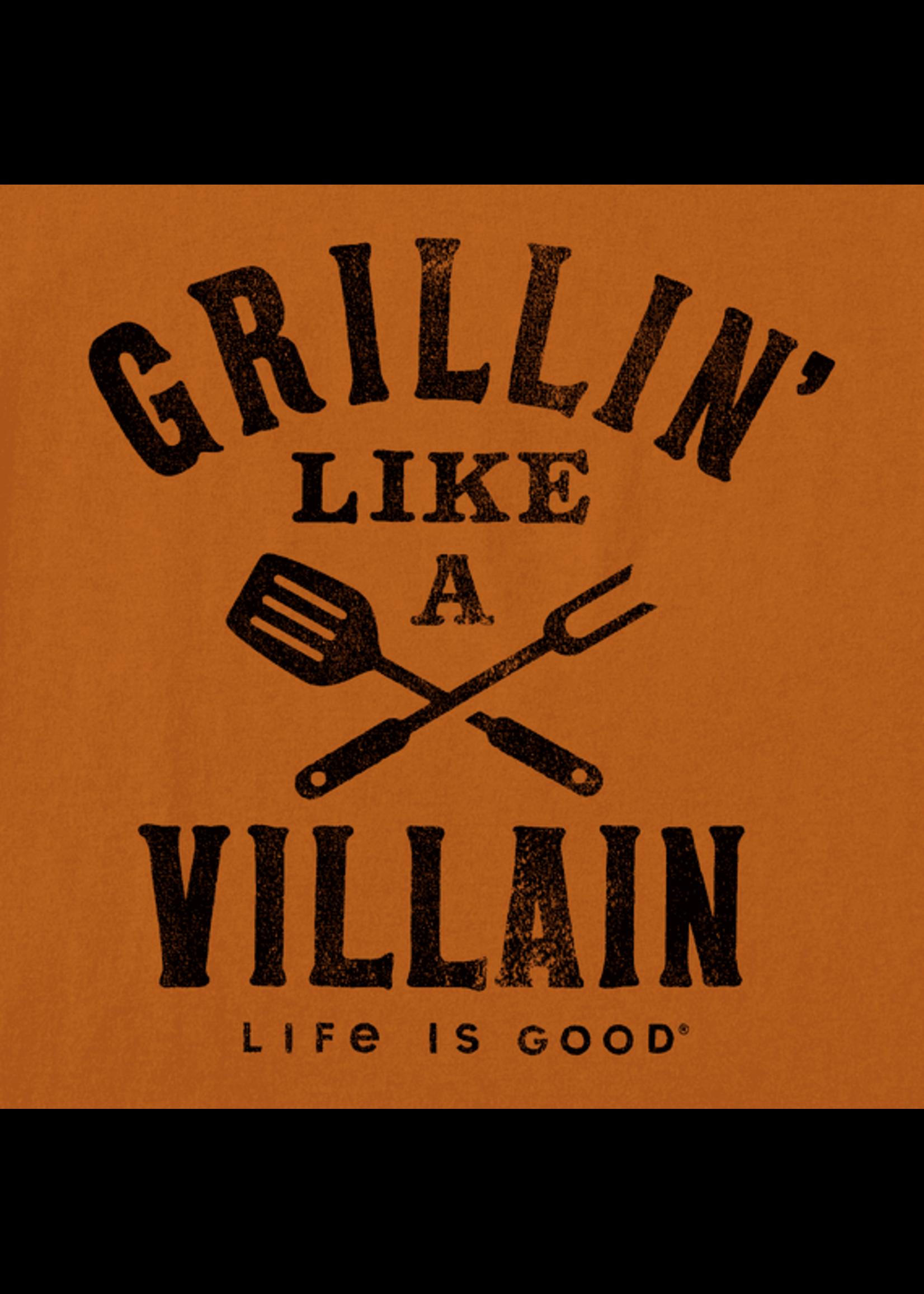 "Life Is Good Life Is Good ""Grillin' Like A Villain"" Crusher Tee"