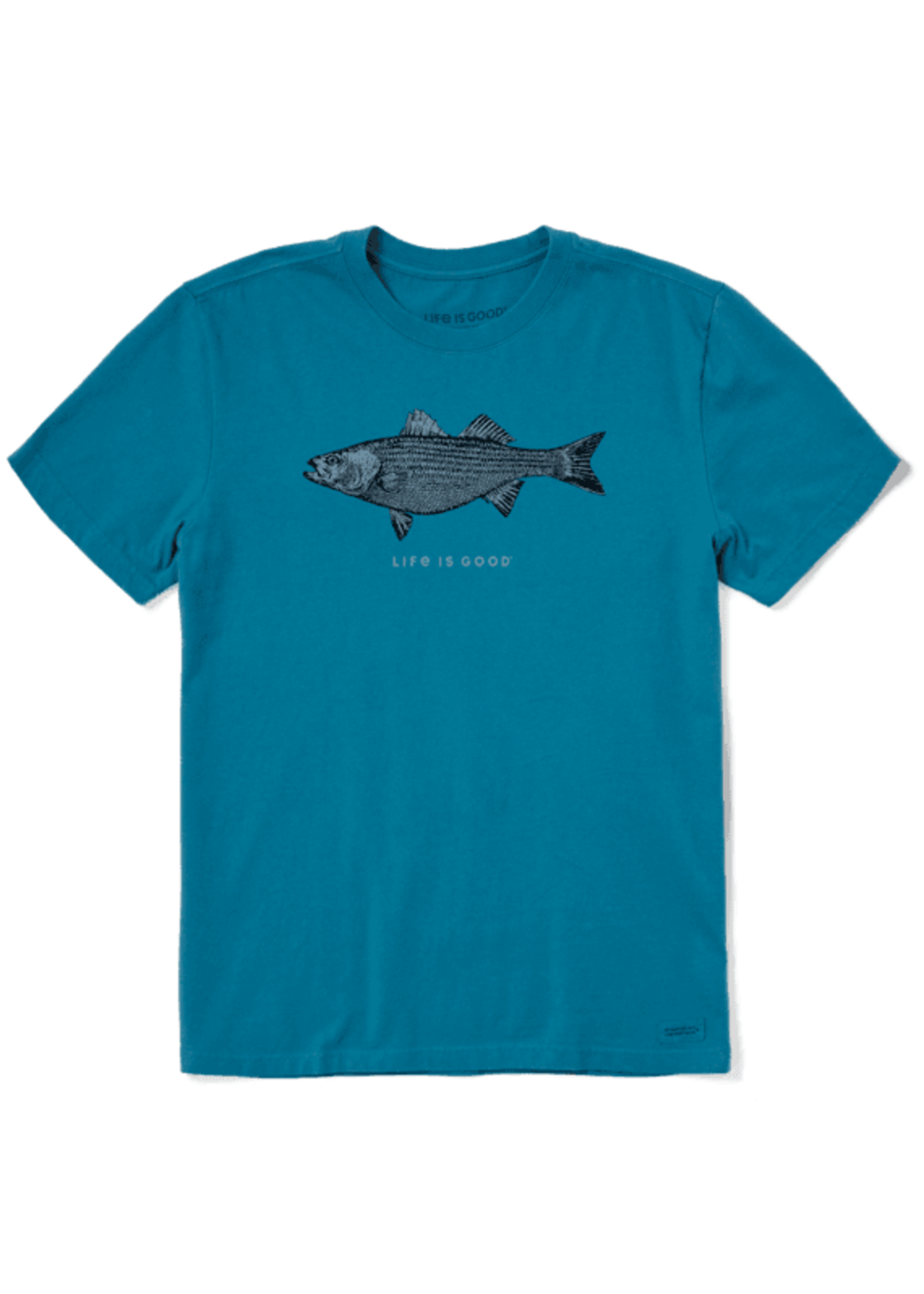 """Life Is Good Life Is Good """"Striped Bass"""" Crusher Tee"""