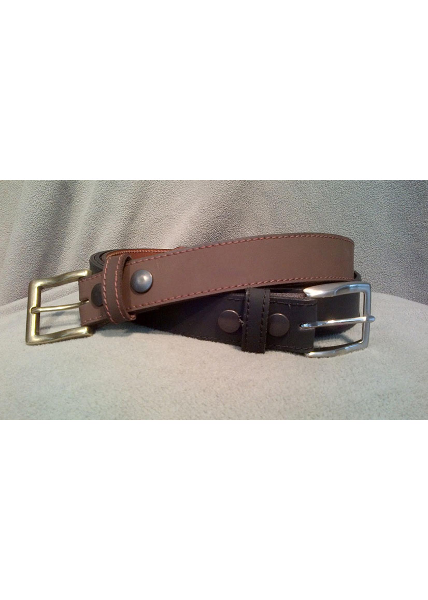 Europe Dezines Europa Dezines - Brown Nubuck Leather Belt