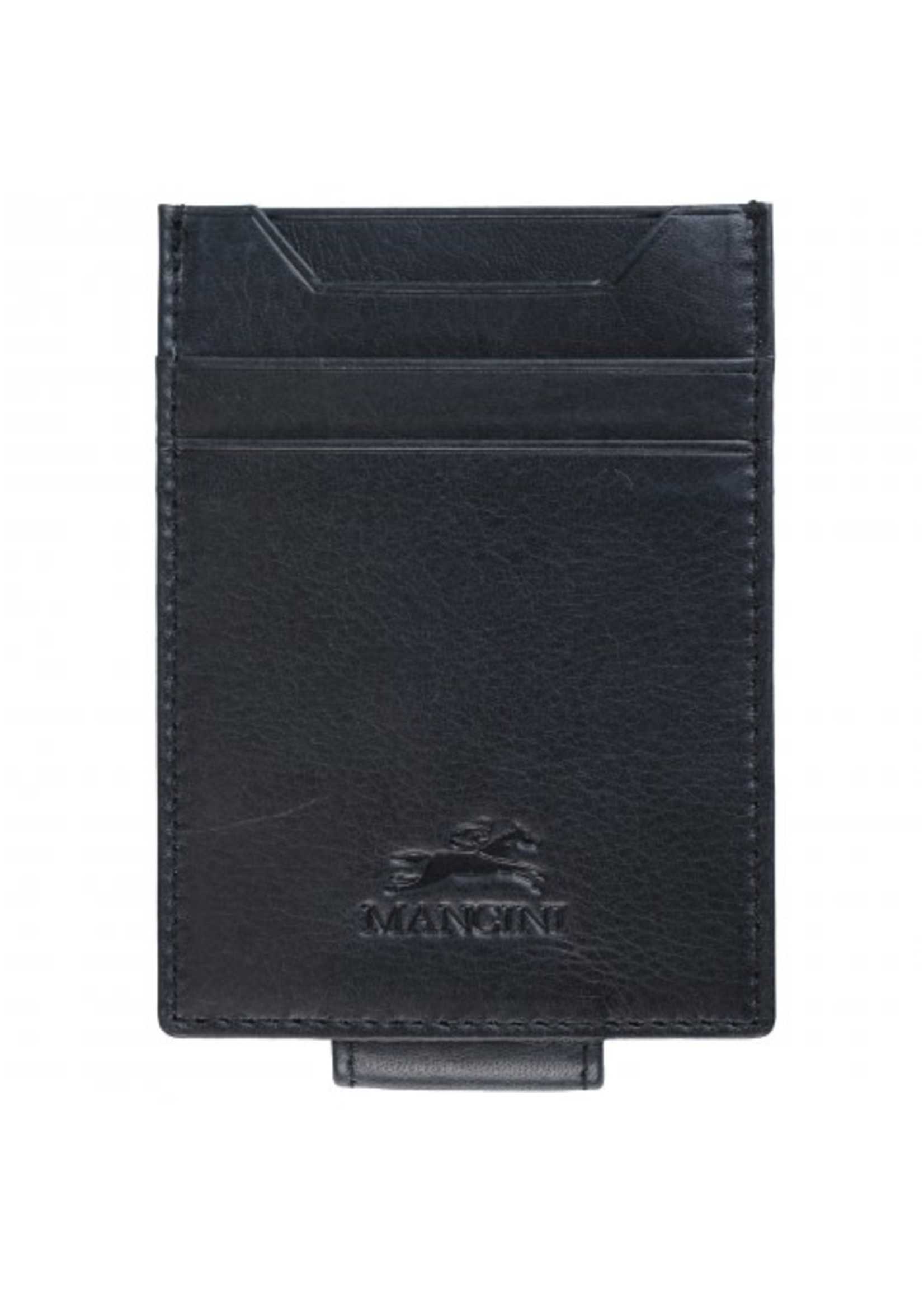 Mancini Magnetic RFID Leather Bill Clip
